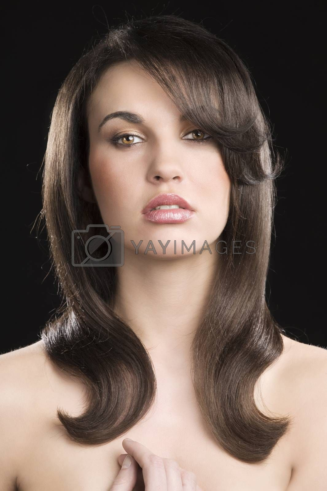 Royalty free image of the hairstyle by fotoCD