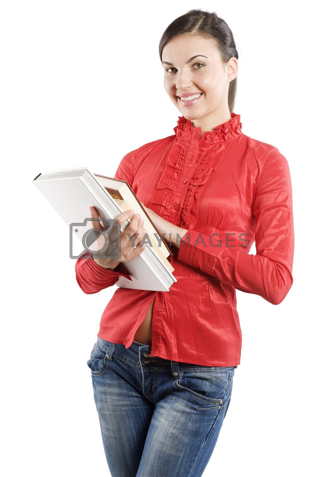 Royalty free image of the brunette student by fotoCD