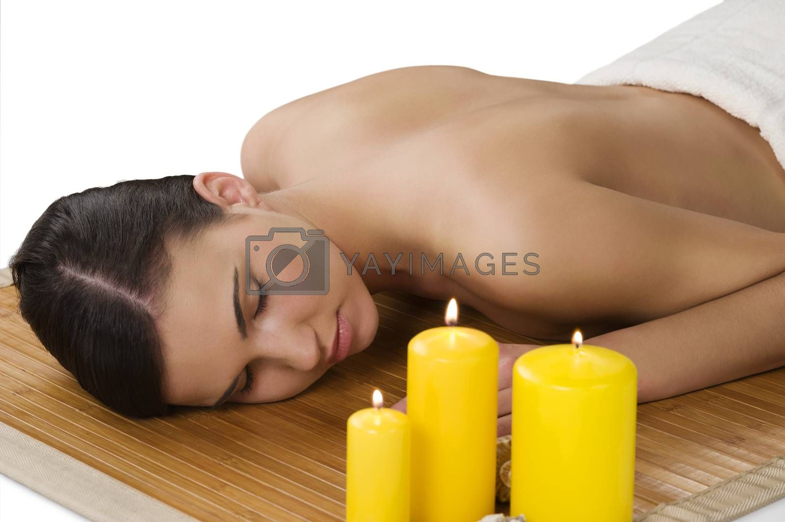 Royalty free image of massage at spa by fotoCD