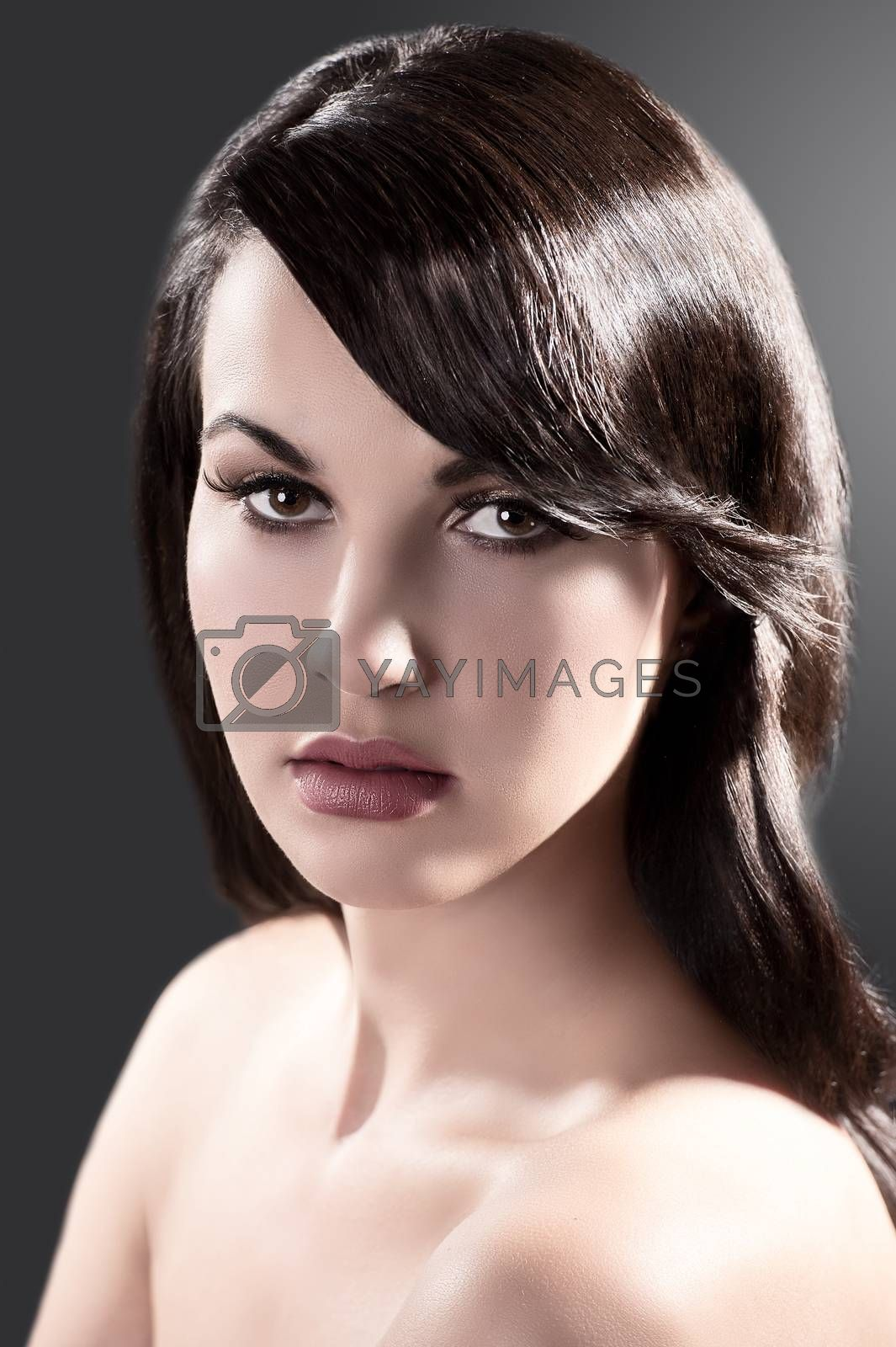 Royalty free image of beauty portrait of a brunette  by fotoCD