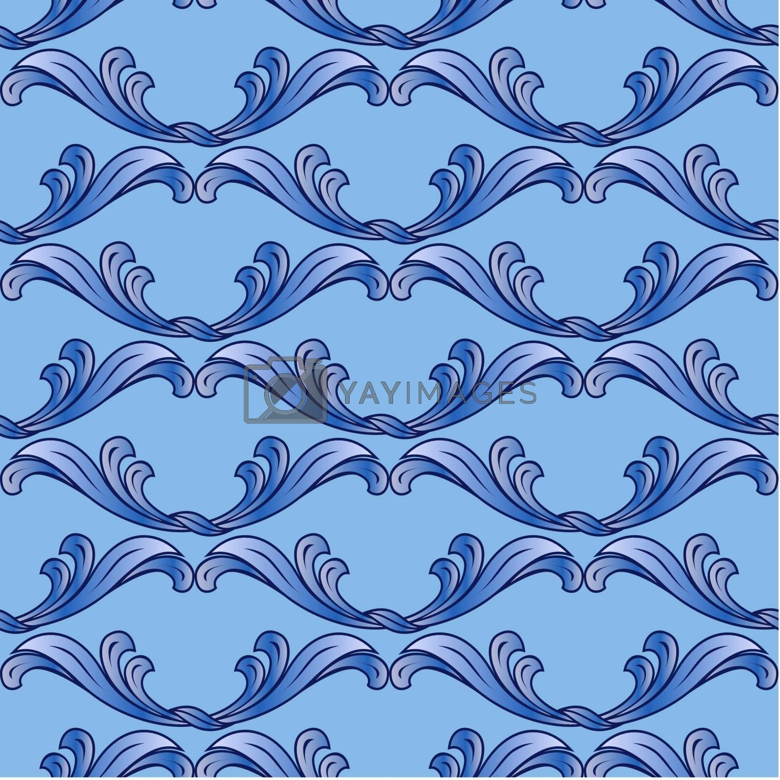 Royalty free image of Blue floral background by dvarg