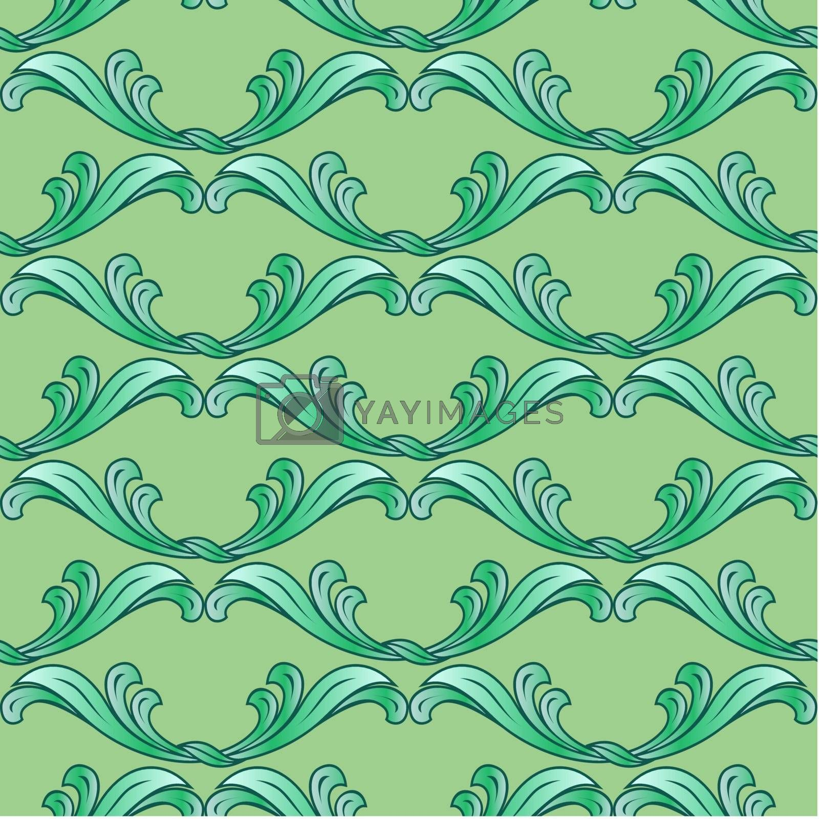 Royalty free image of Green floral background by dvarg