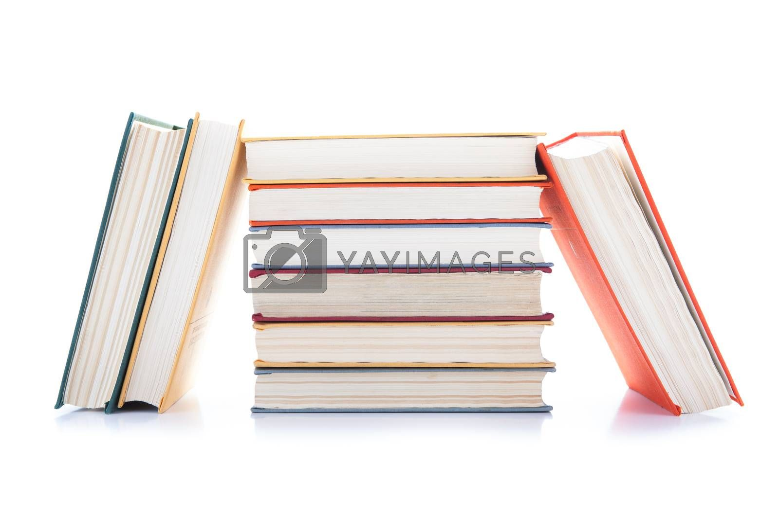 Royalty free image of stack of books on white by mizar_21984