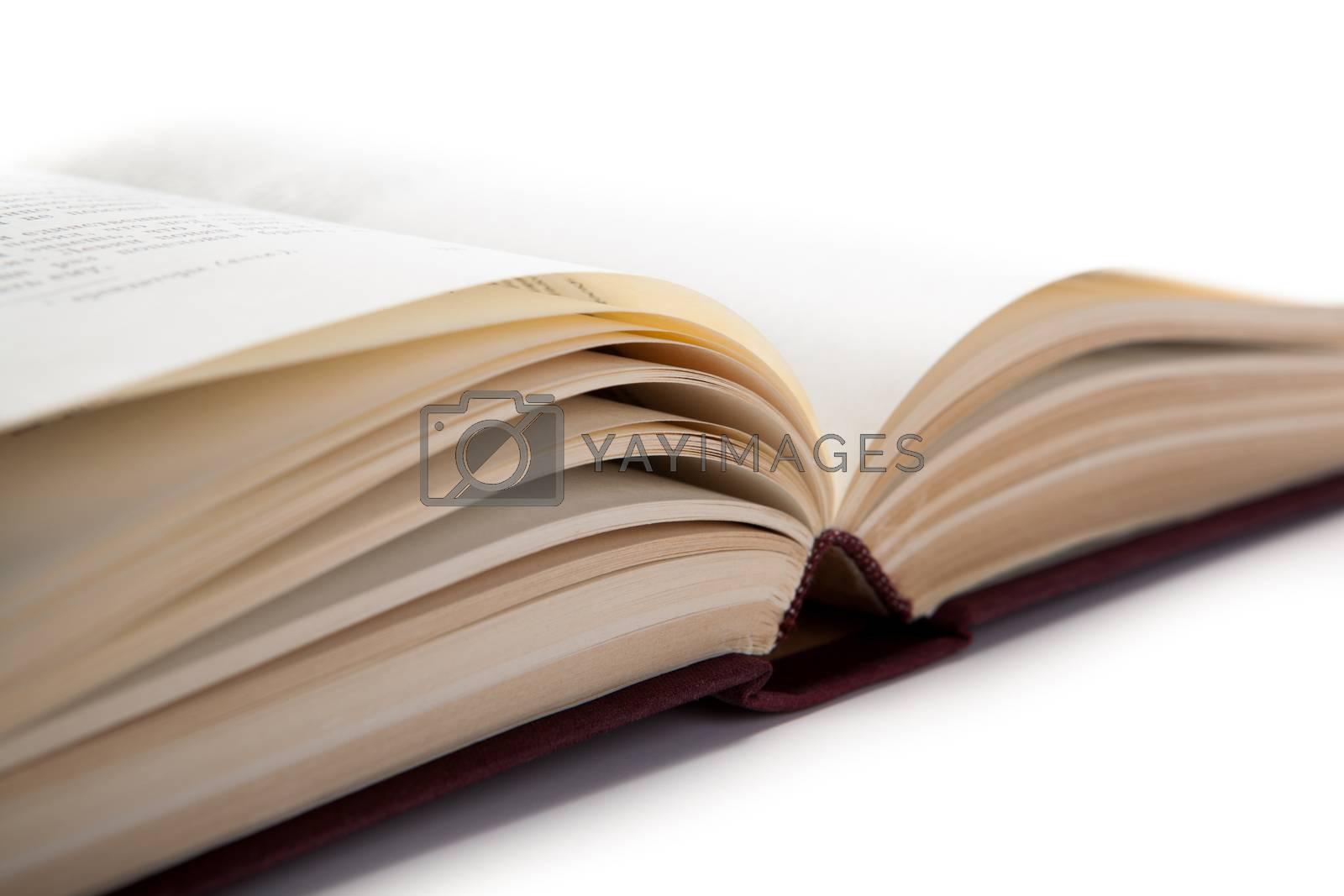 open book on white by mizar_21984