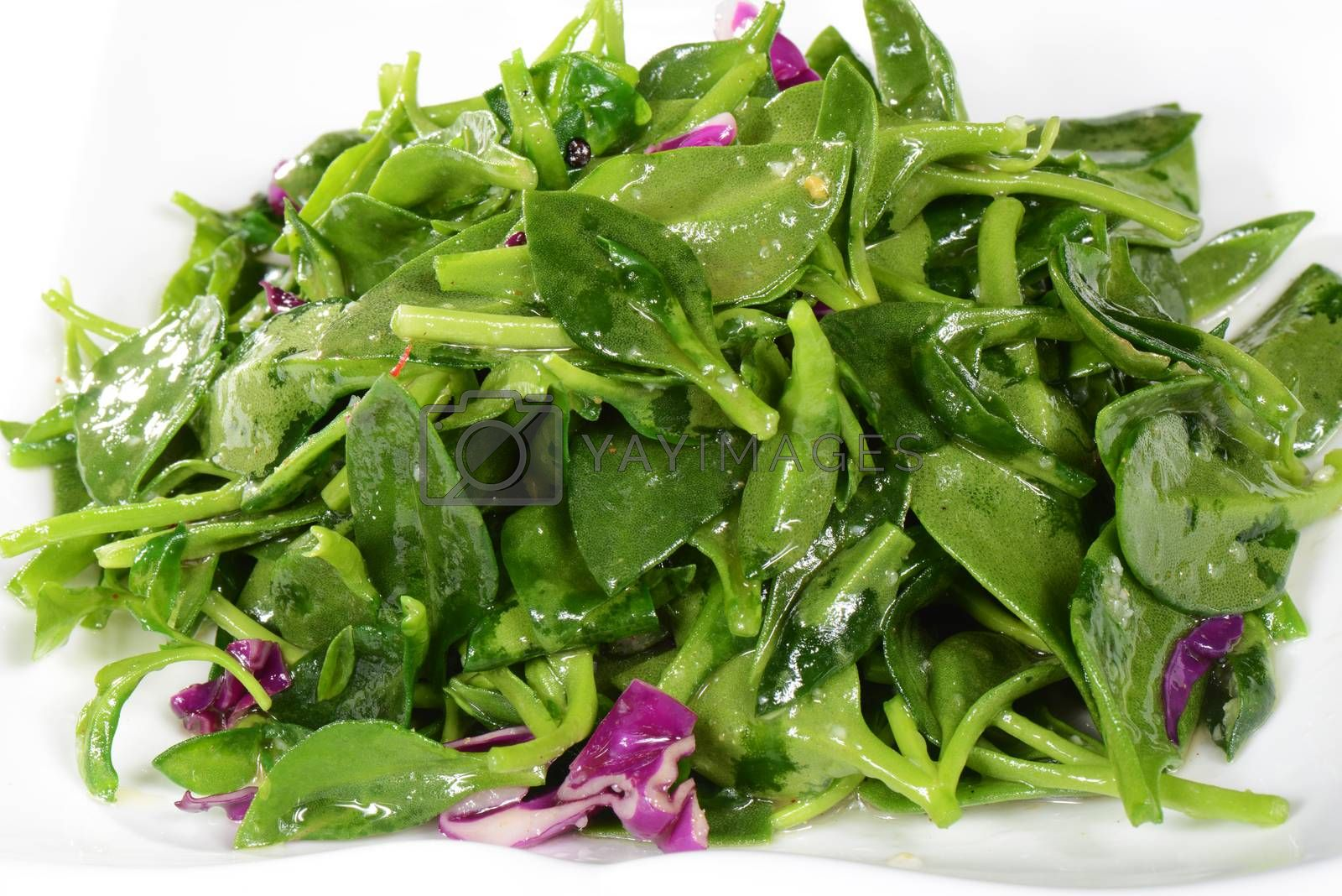 Royalty free image of Chinese Food: Fried wild vegetables by bbbar