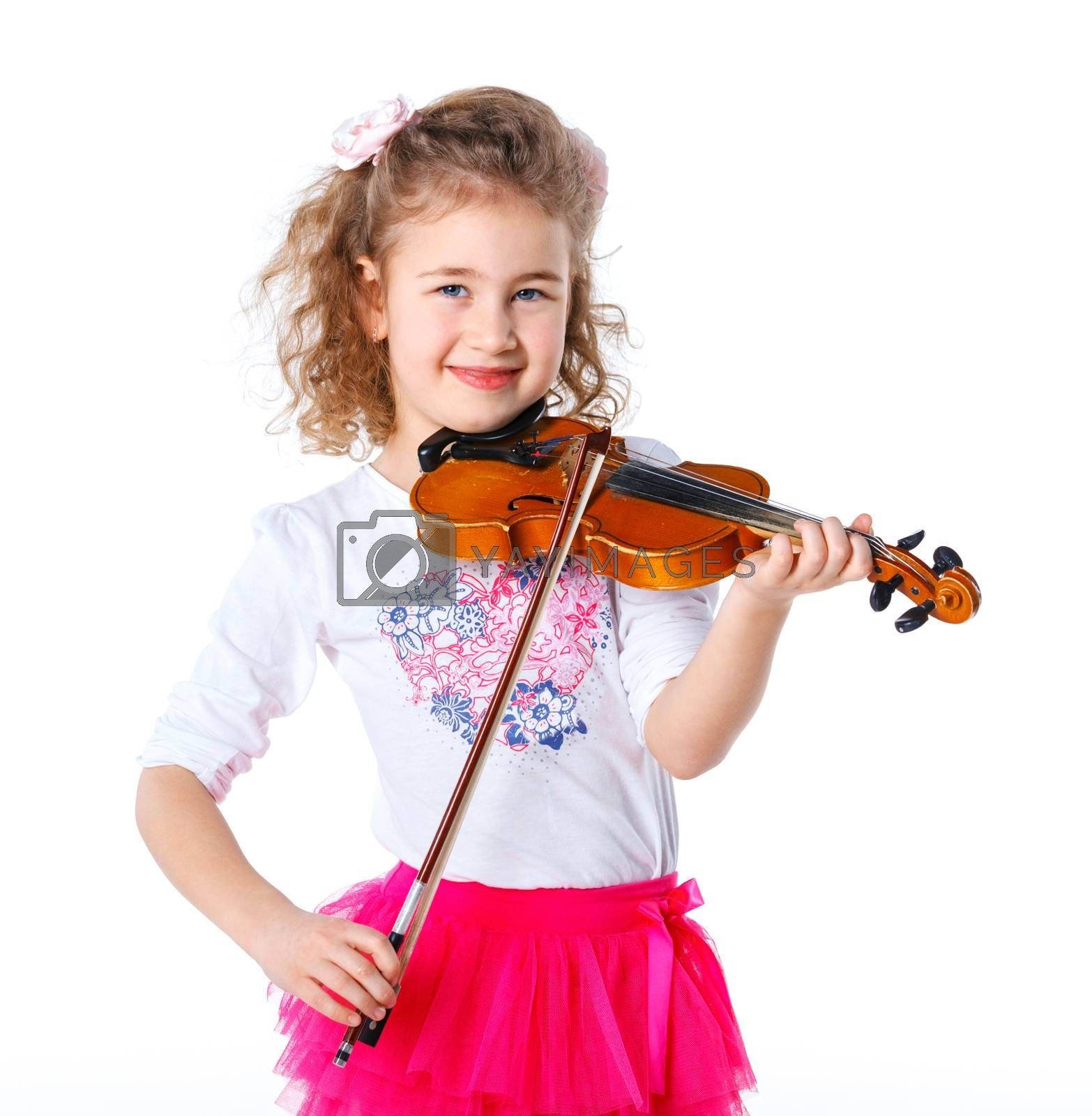 Royalty free image of Girl little violinist by maxoliki