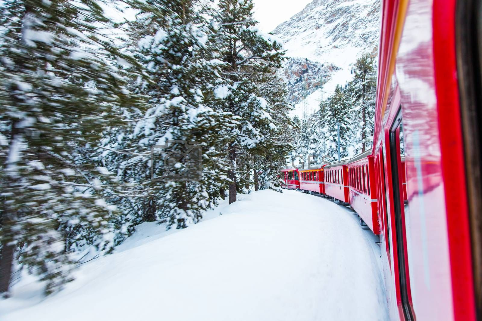 Train in the snow by Perseomedusa