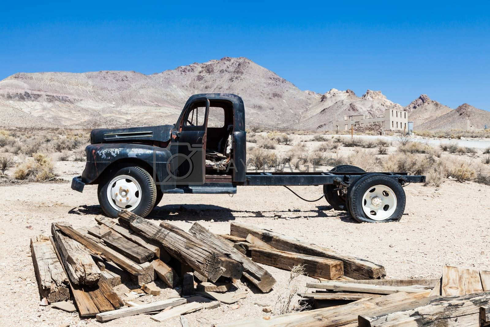 Royalty free image of Rhyolite Ghost Town by Perseomedusa