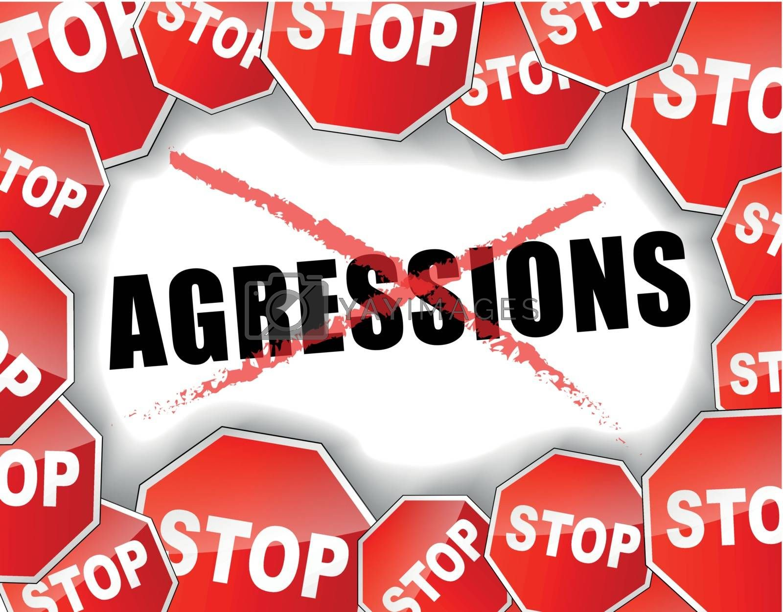 Royalty free image of Stop assaults french concept by nickylarson974