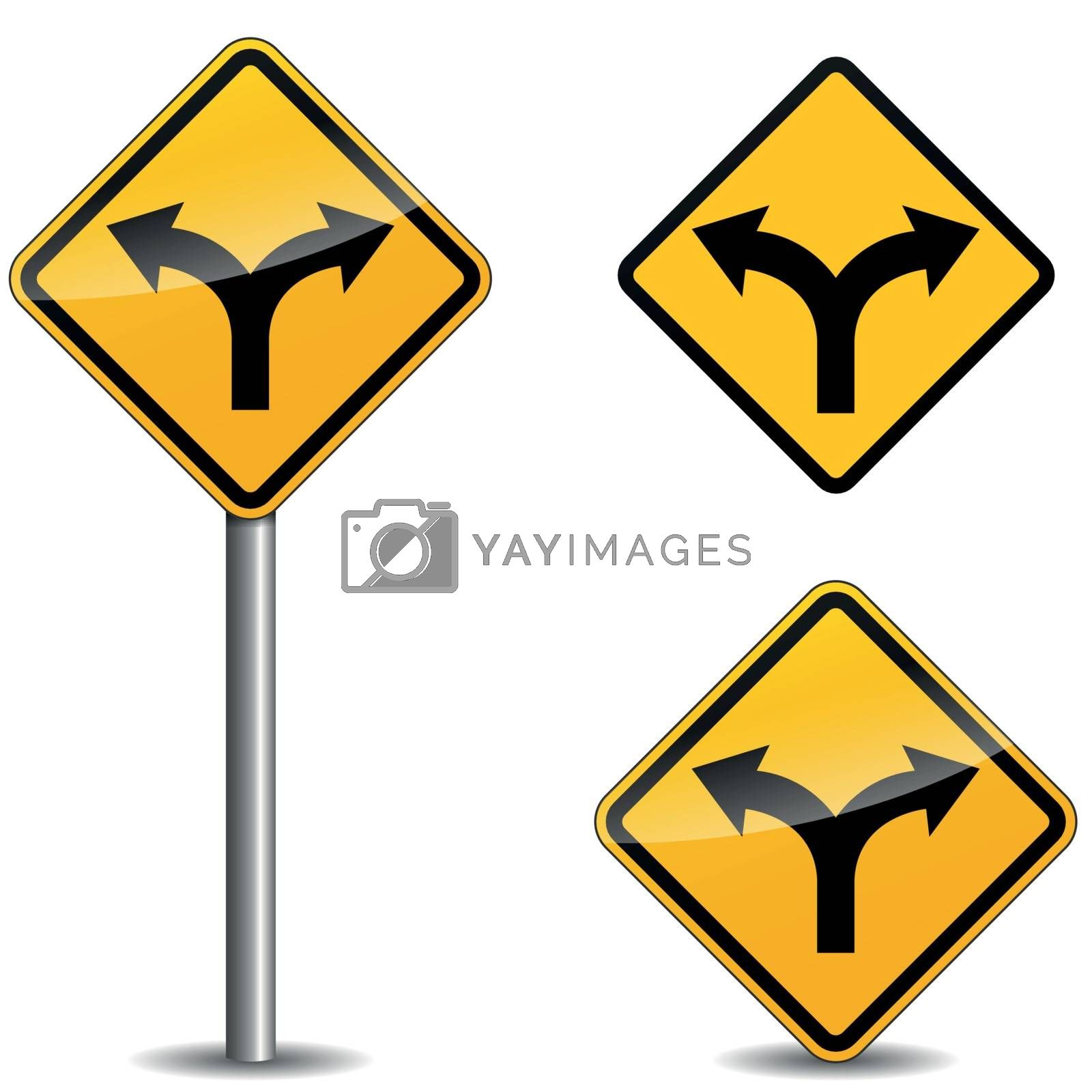 Royalty free image of Vector yellow arrows sign by nickylarson974