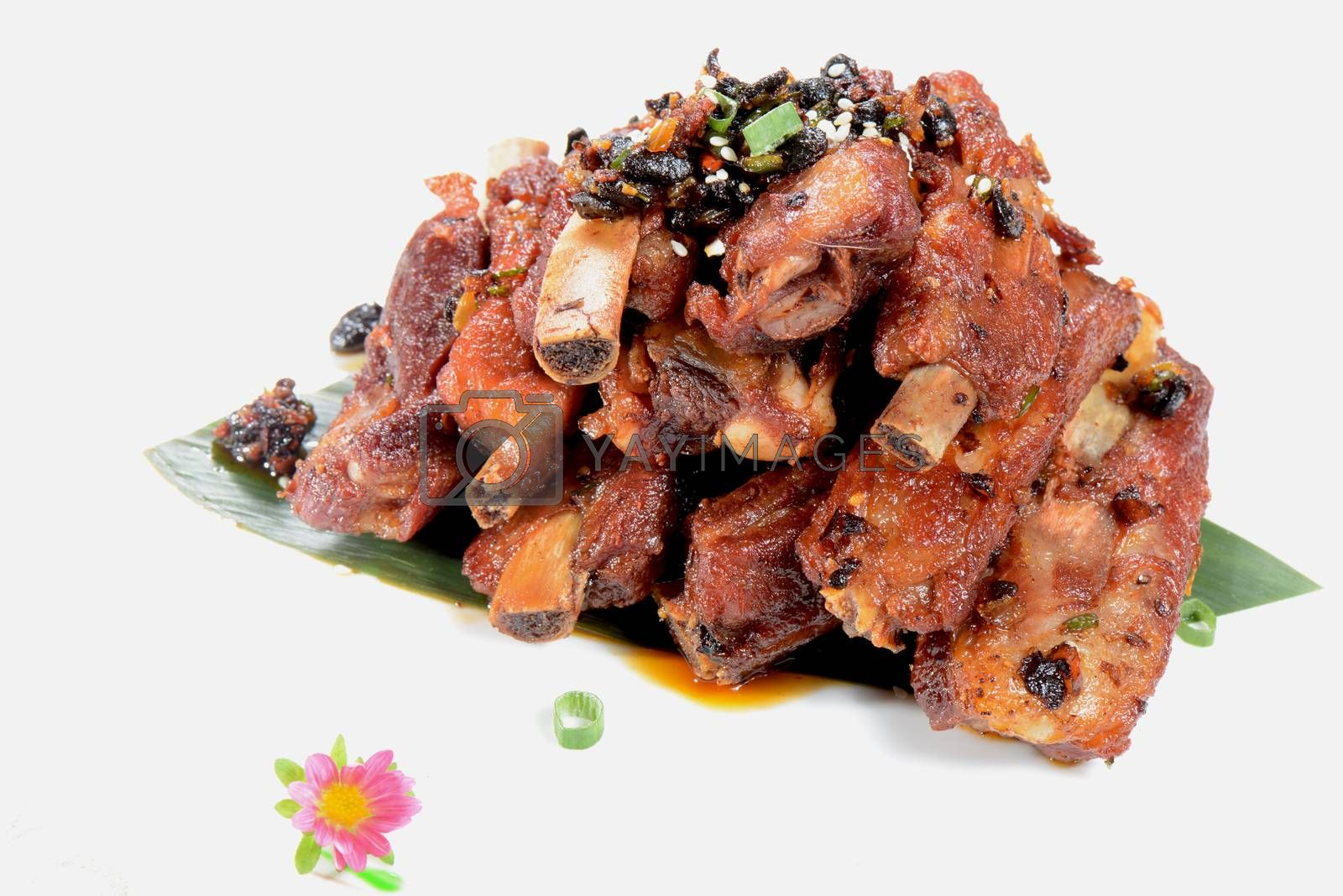 Royalty free image of Chinese Food: Fried pork steak by bbbar