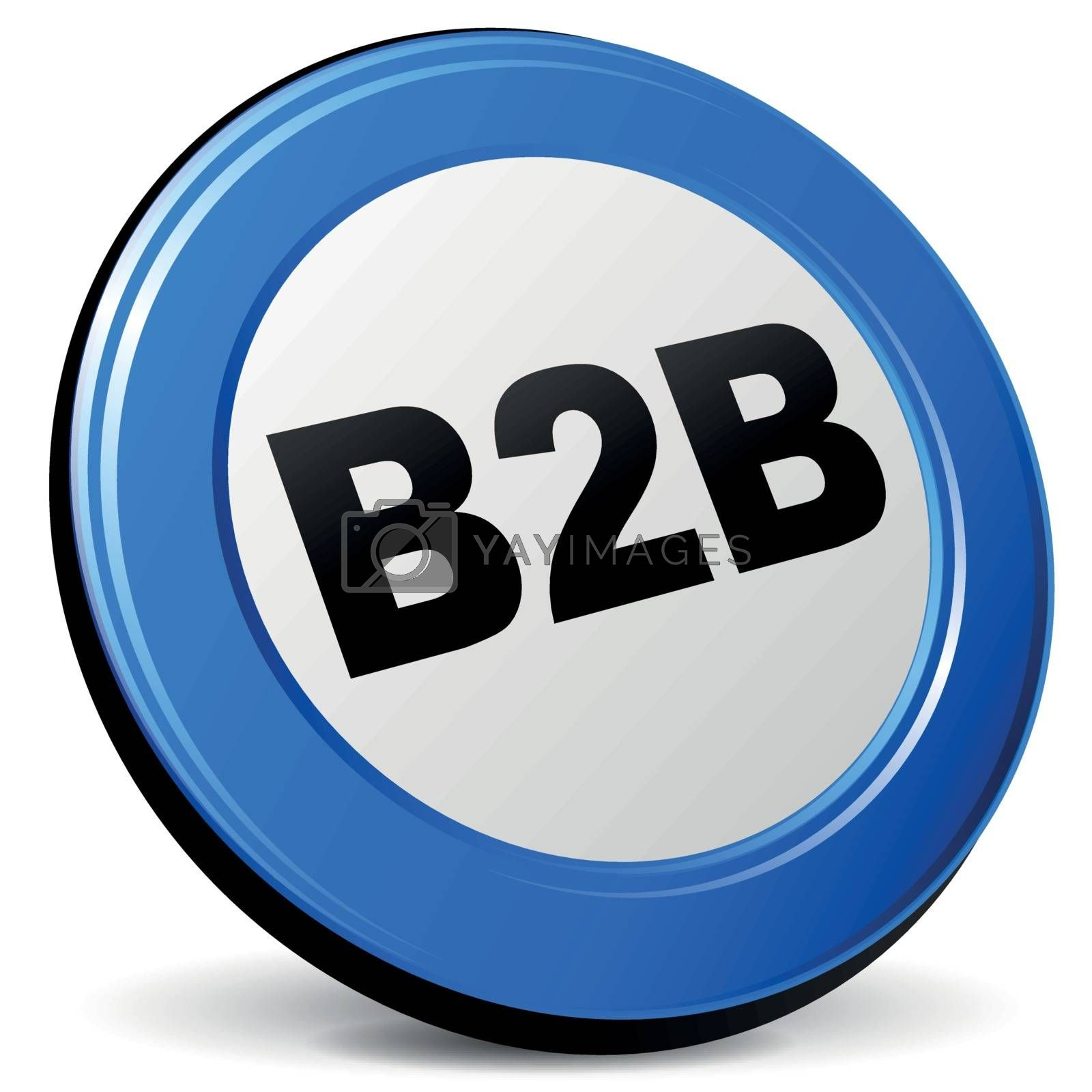 Royalty free image of Vector 3d b2b icon by nickylarson974