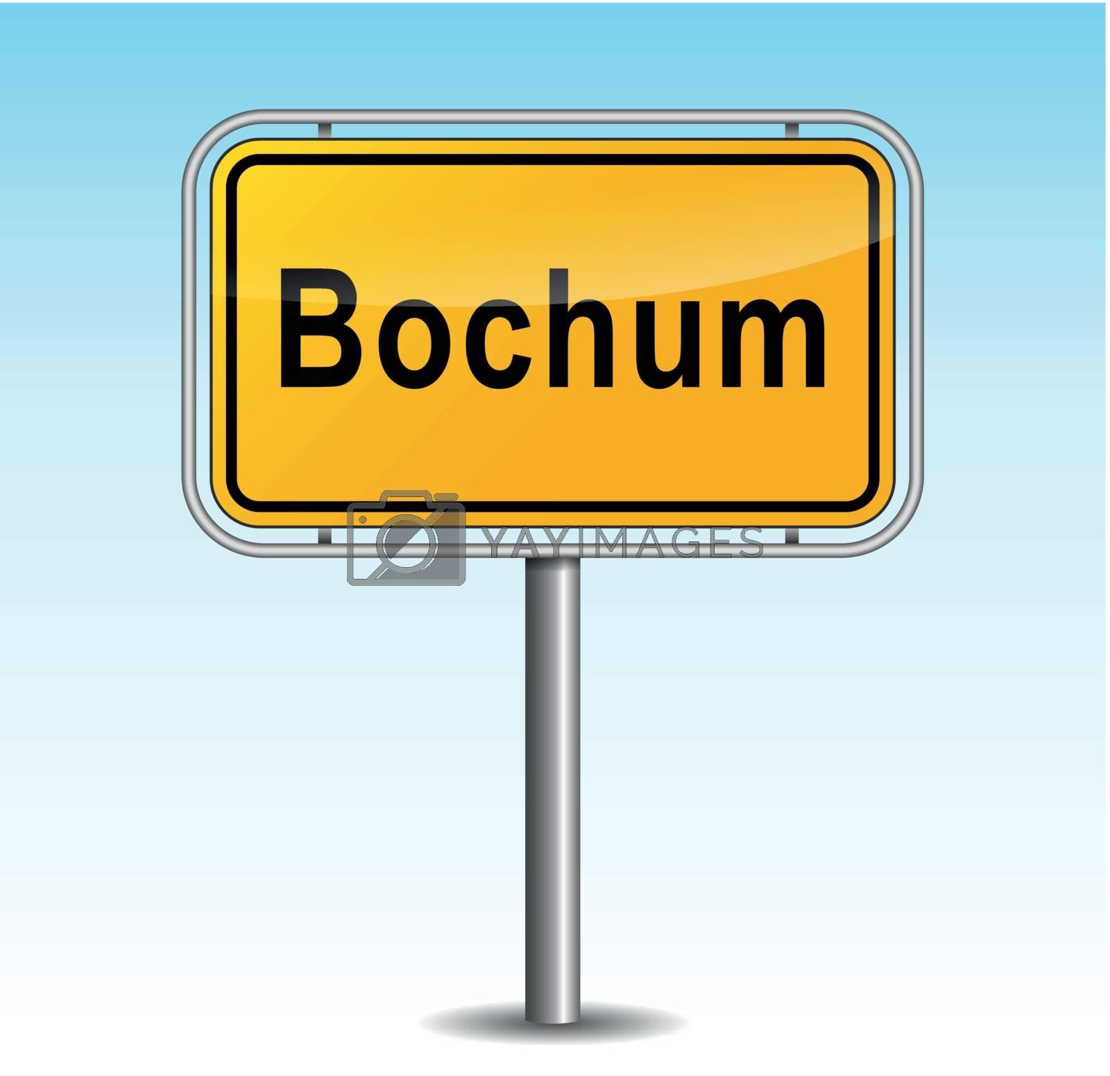 Royalty free image of Vector bochum signpost by nickylarson974