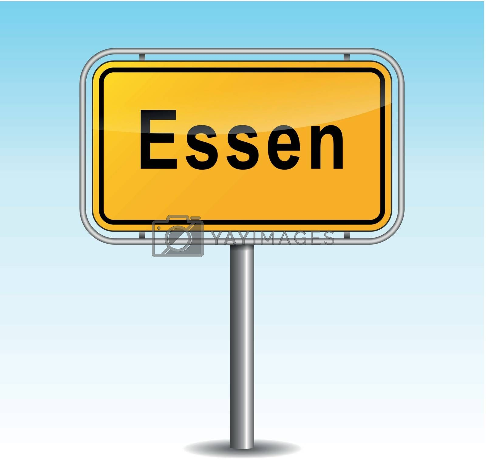 Royalty free image of Vector essen signpost by nickylarson974