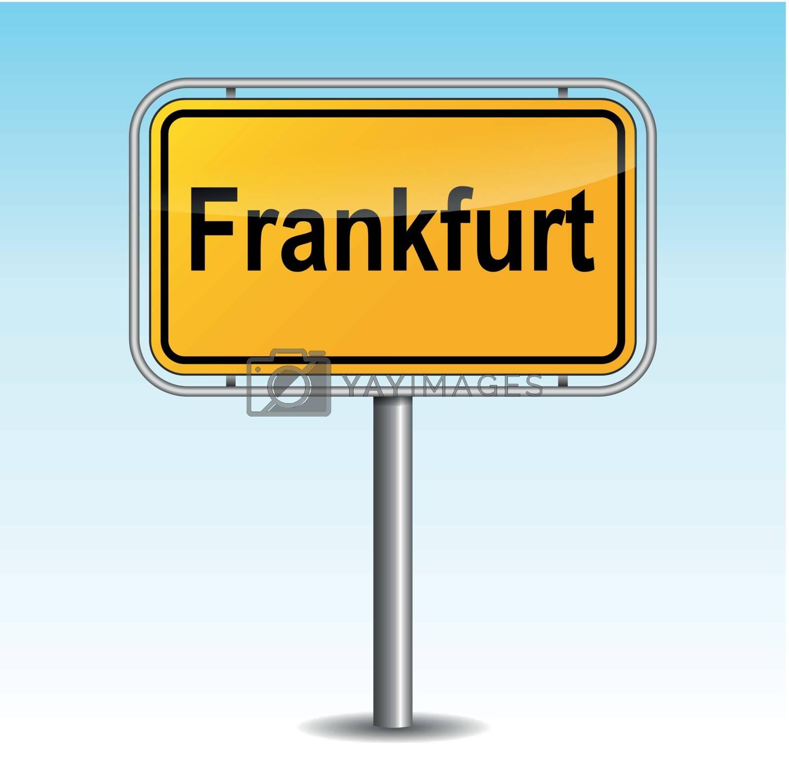 Royalty free image of Vector frankfurt signpost by nickylarson974