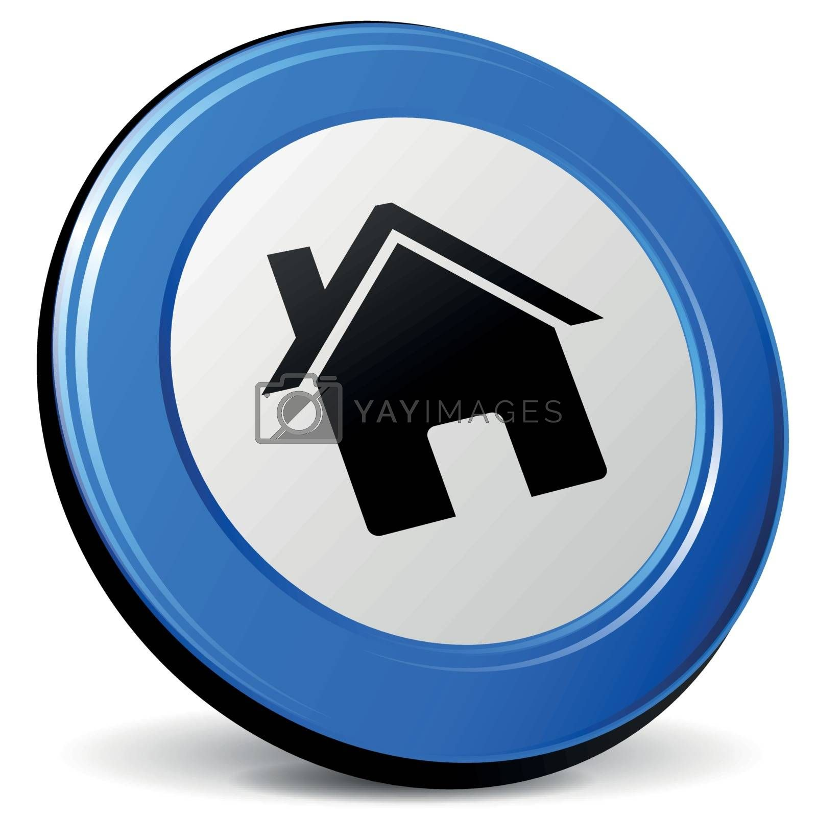 Royalty free image of Vector home icon by nickylarson974
