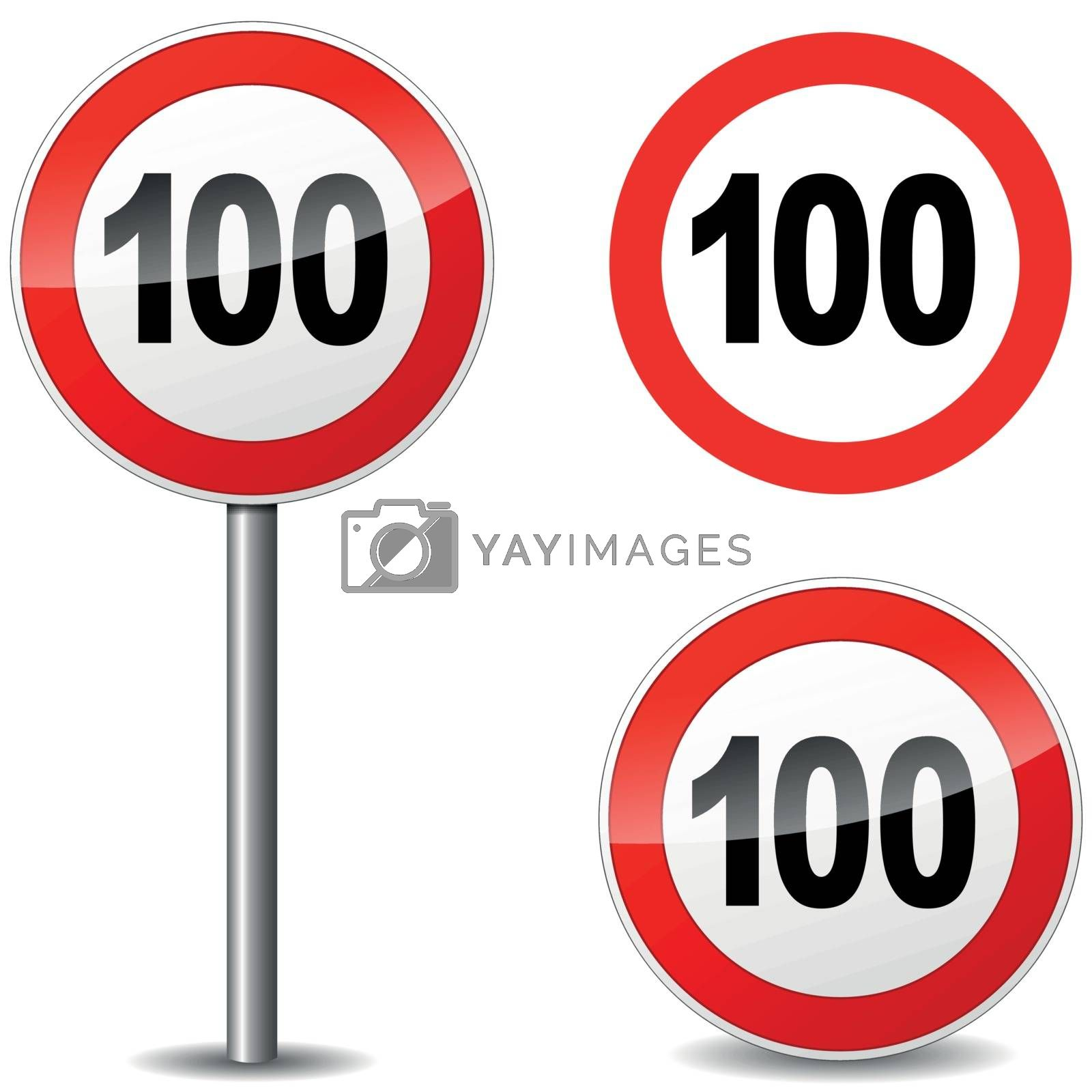 Royalty free image of Vector hundred sign by nickylarson974