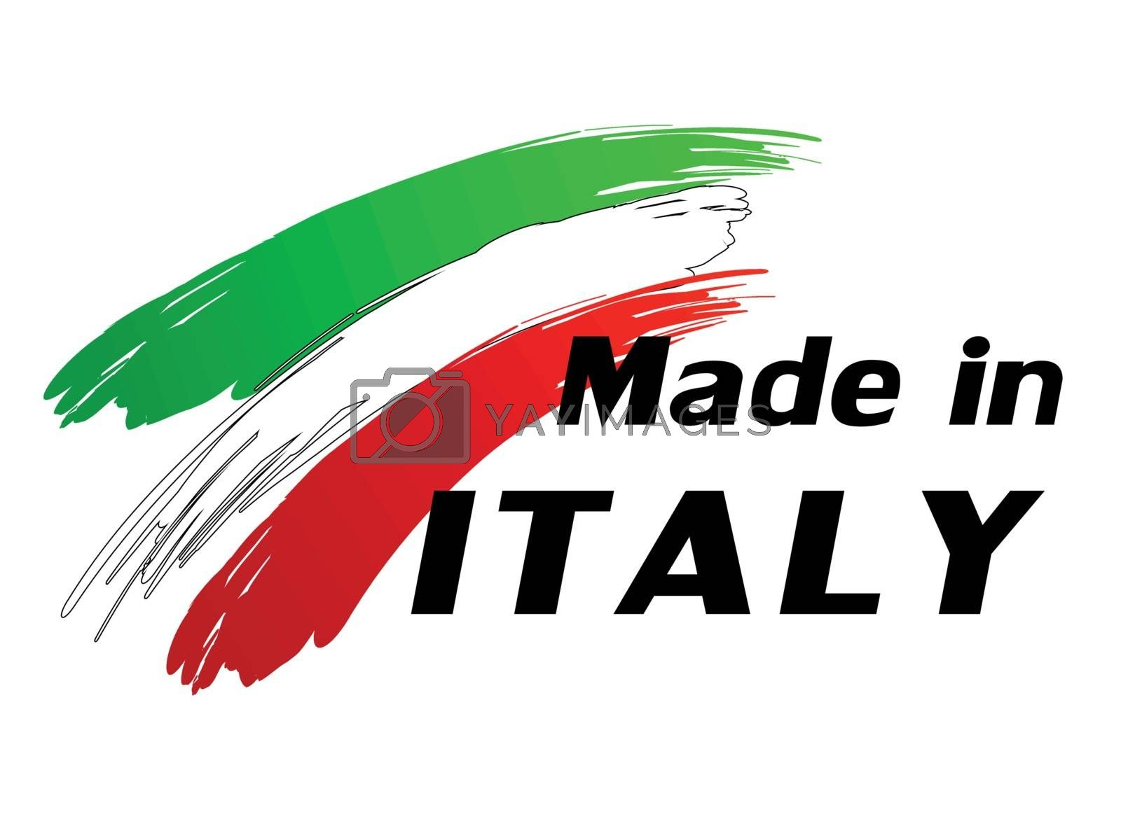 Royalty free image of Made in italy by nickylarson974