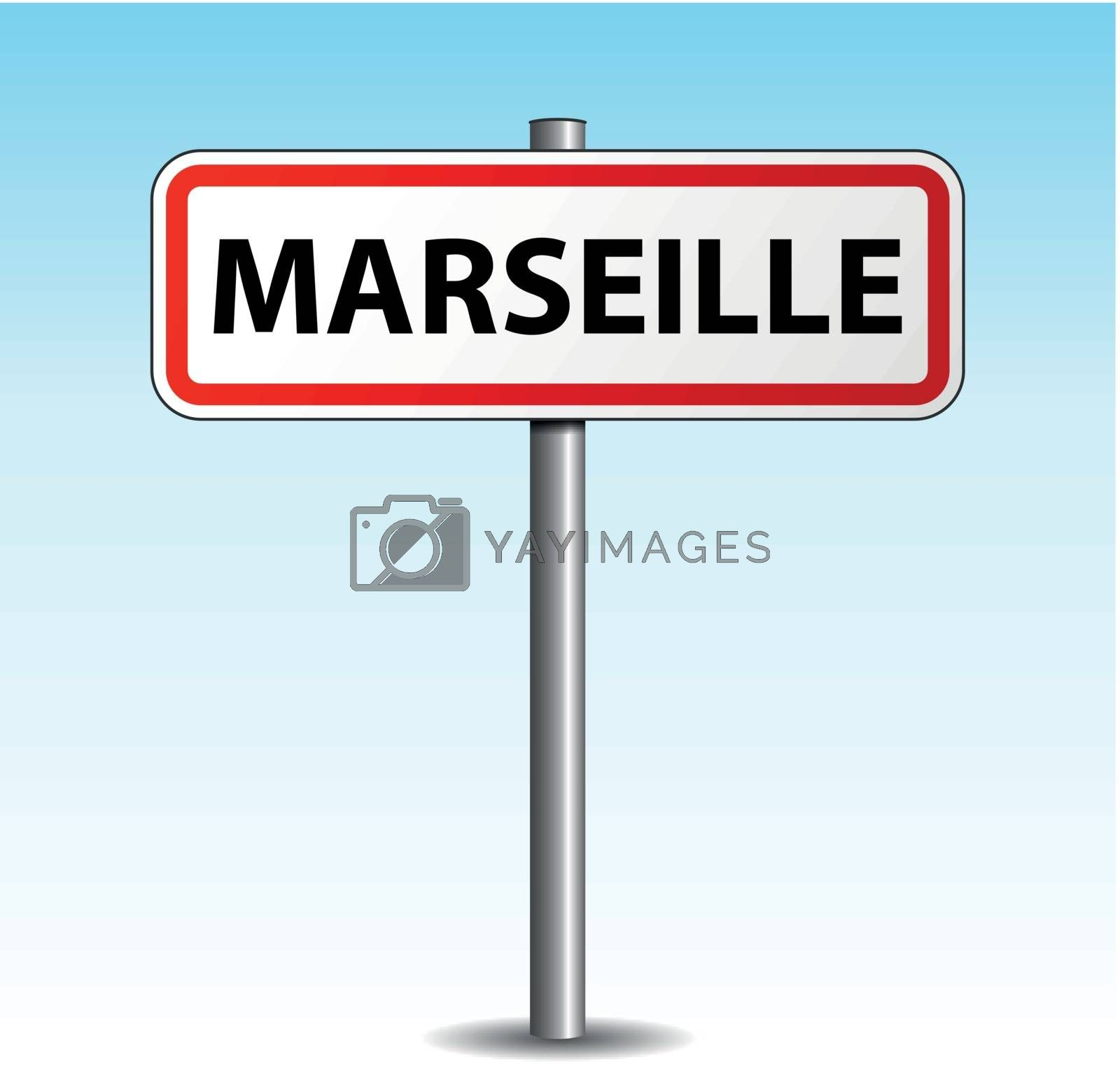 Royalty free image of Vector marseille signpost by nickylarson974