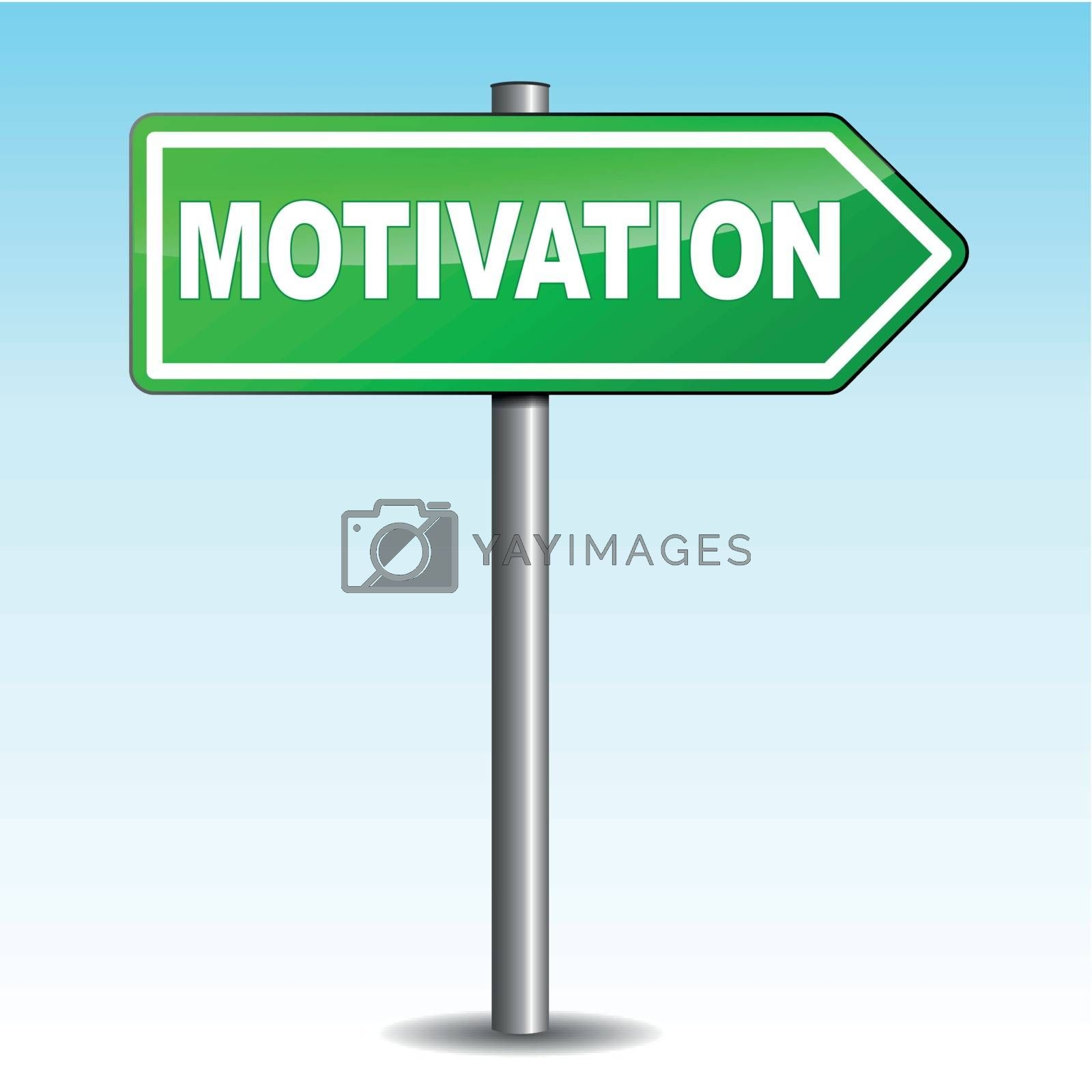 Royalty free image of Motivation arrow sign by nickylarson974