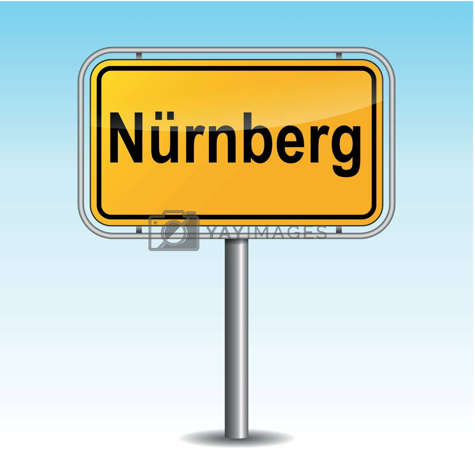 Vector nuremberg signpost by nickylarson974