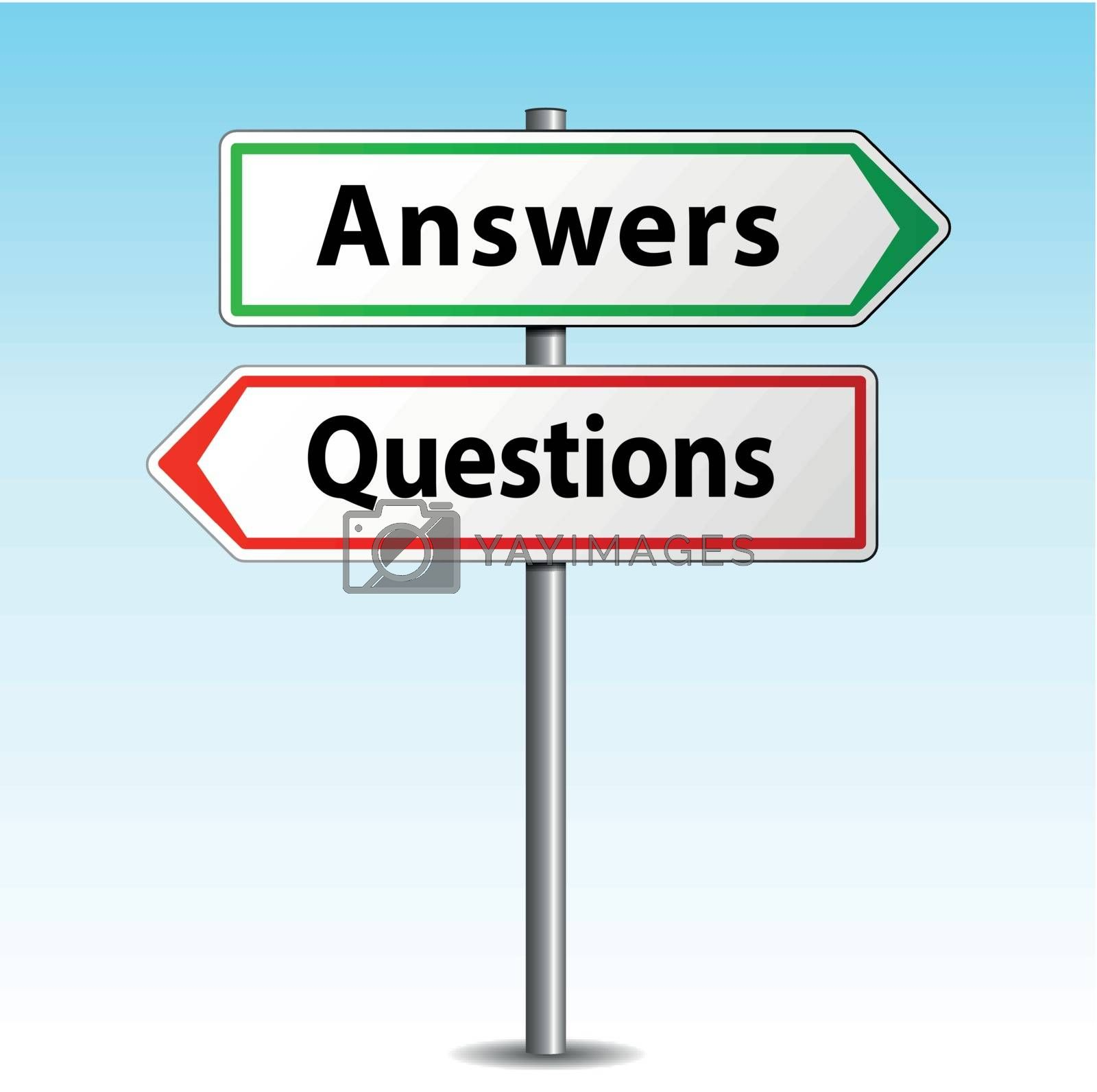 Royalty free image of Answers and questions signs by nickylarson974