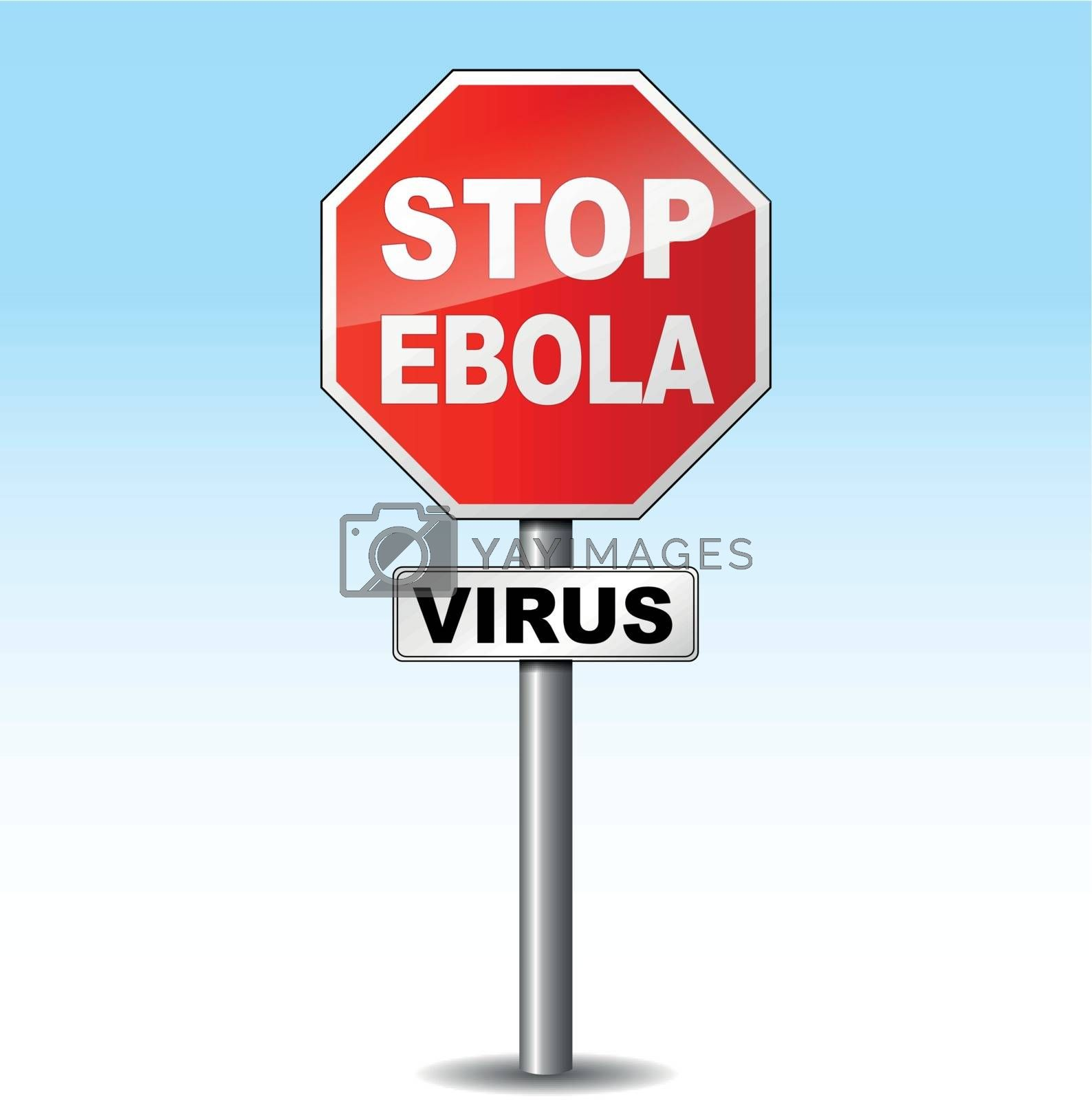 Royalty free image of Vector ebola virus sign by nickylarson974