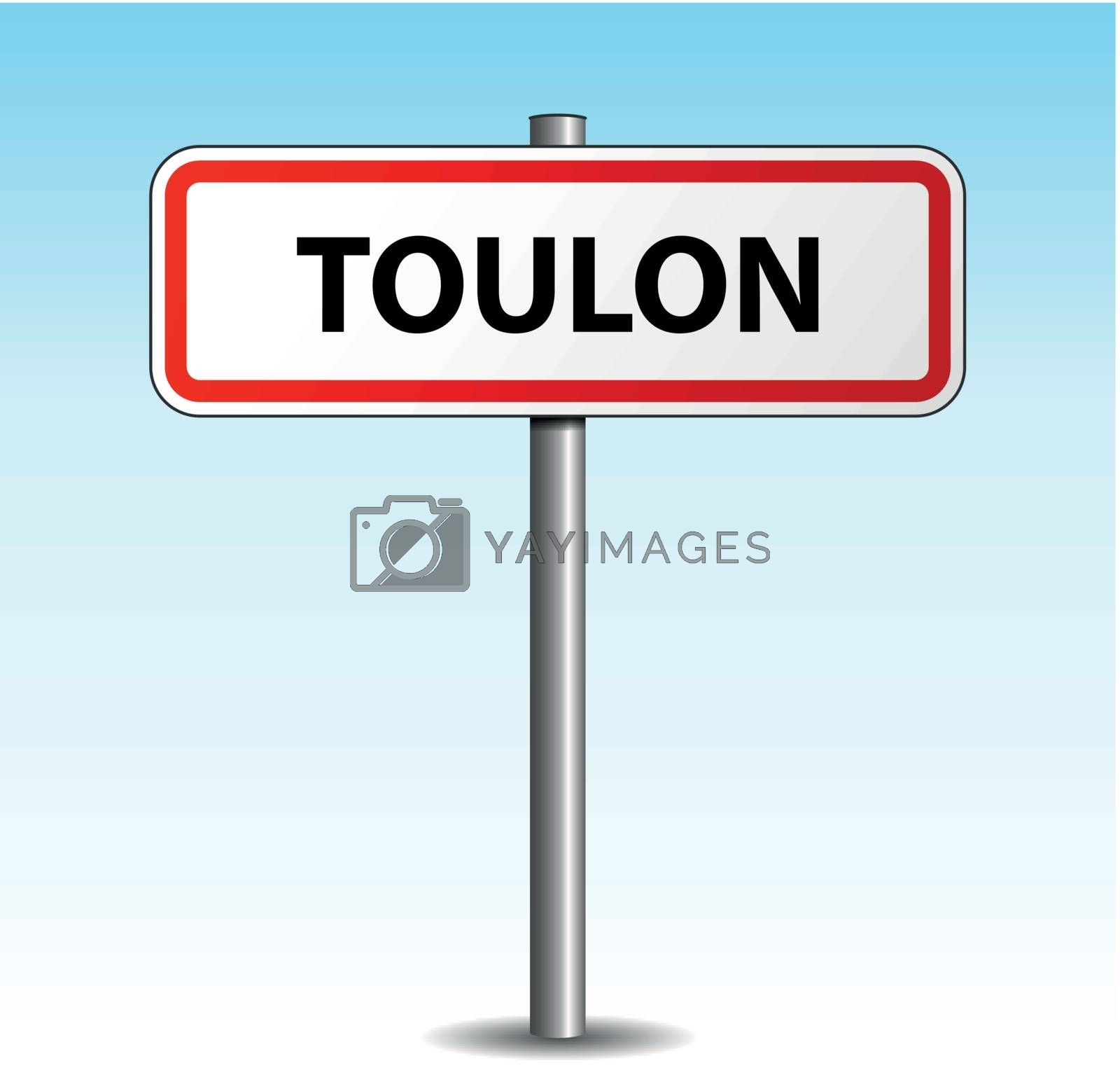 Royalty free image of Vector toulon signpost by nickylarson974
