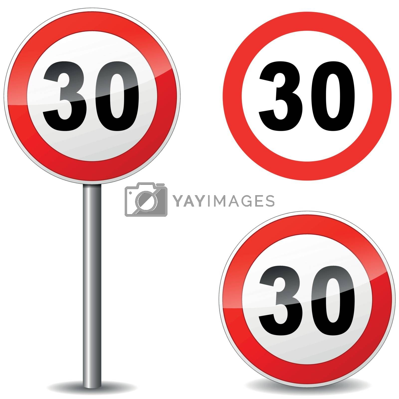 Royalty free image of Vector thirty sign by nickylarson974