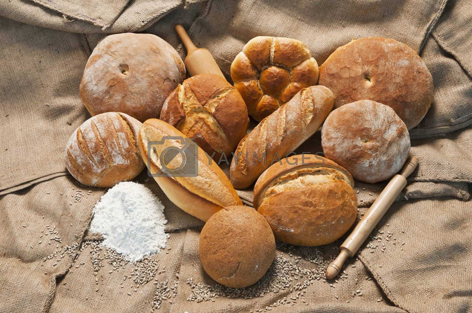 Royalty free image of bread by emirkoo