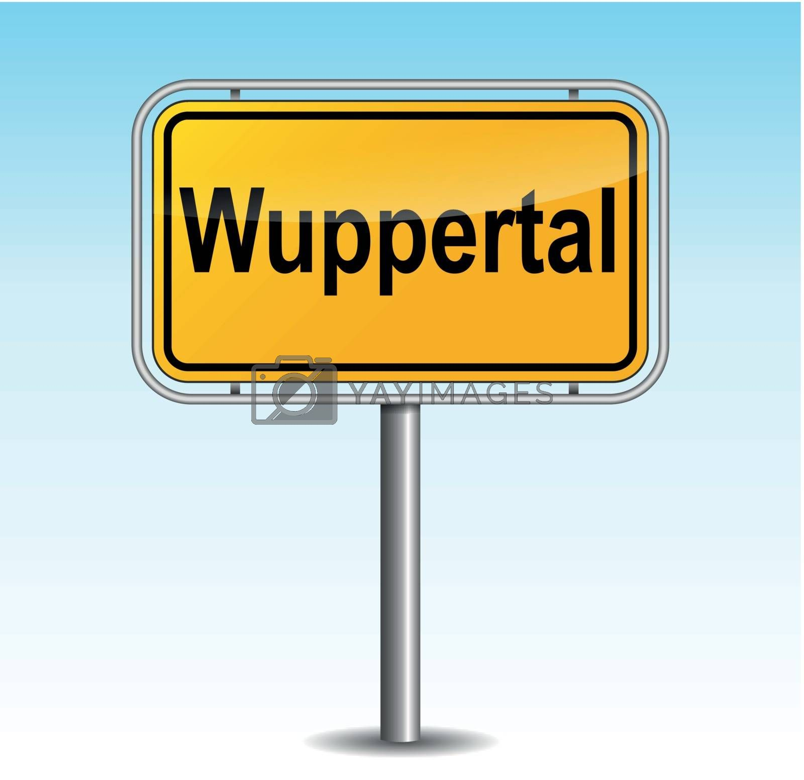 Royalty free image of Vector wuppertal signpost by nickylarson974