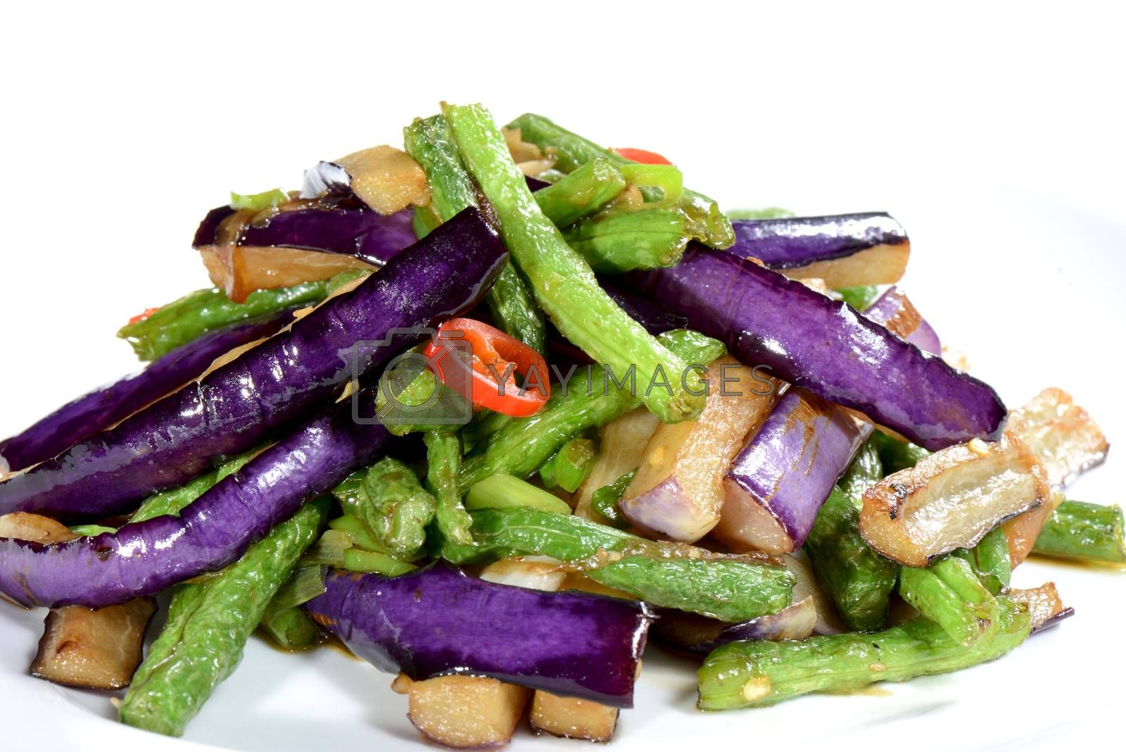 Royalty free image of Chinese Food: Fried eggplant slices by bbbar