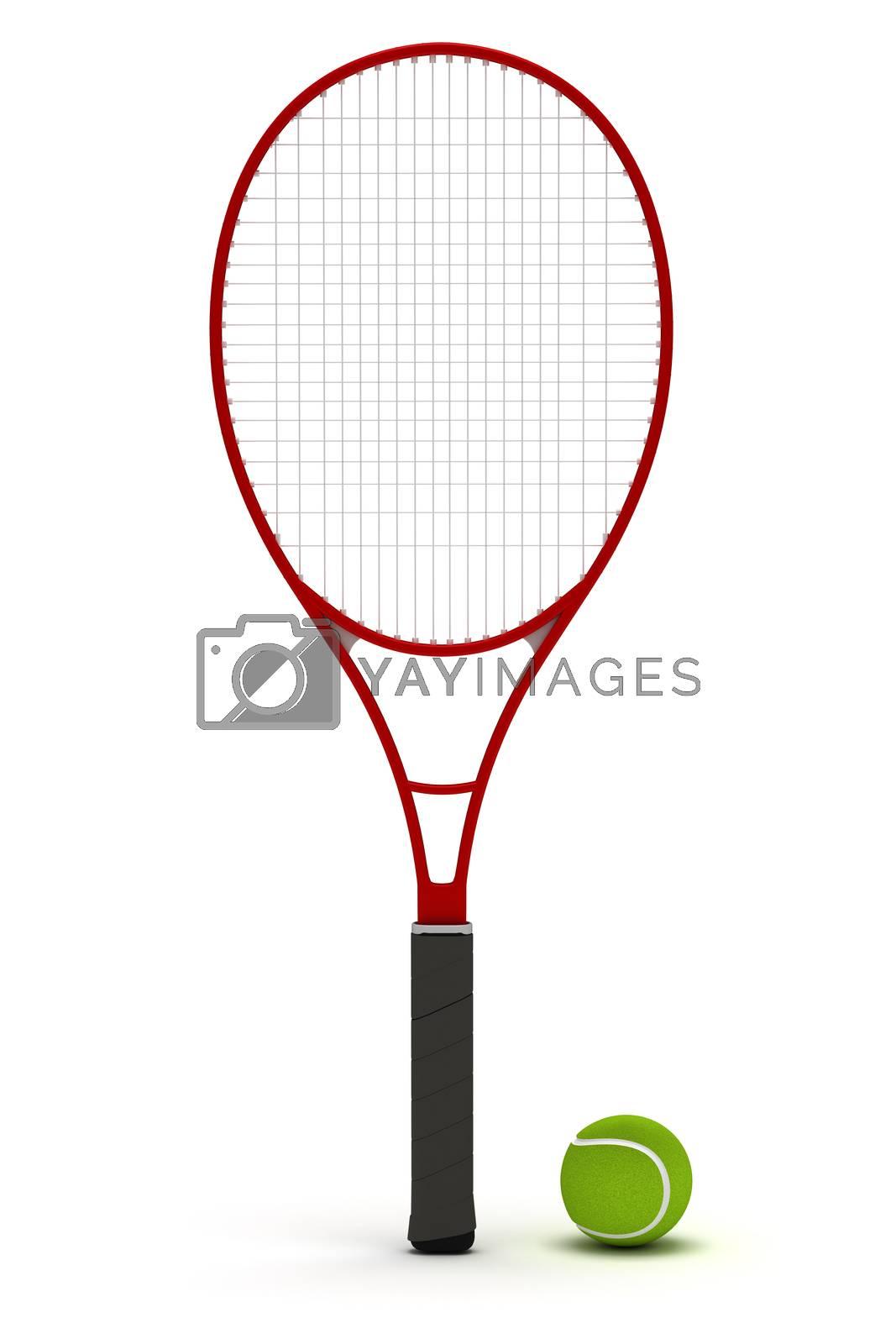Royalty free image of Tennis Racket by selensergen