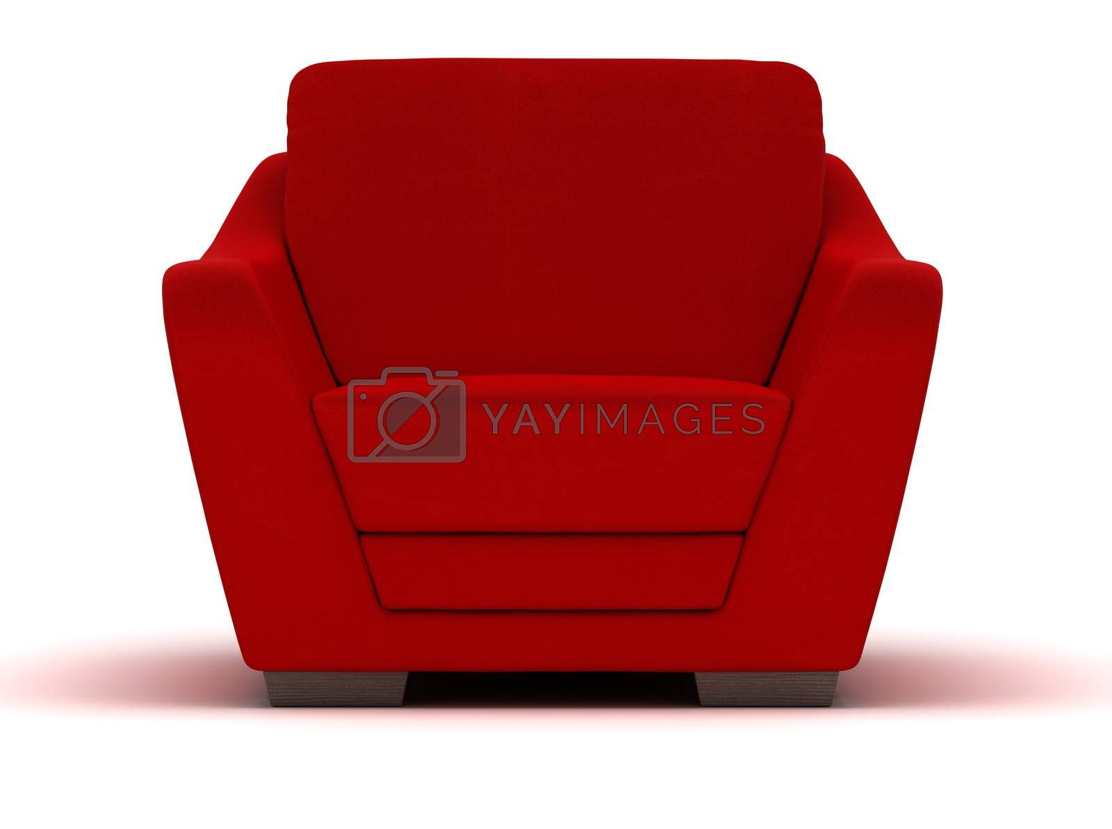 Royalty free image of Red Leather Armchair by selensergen