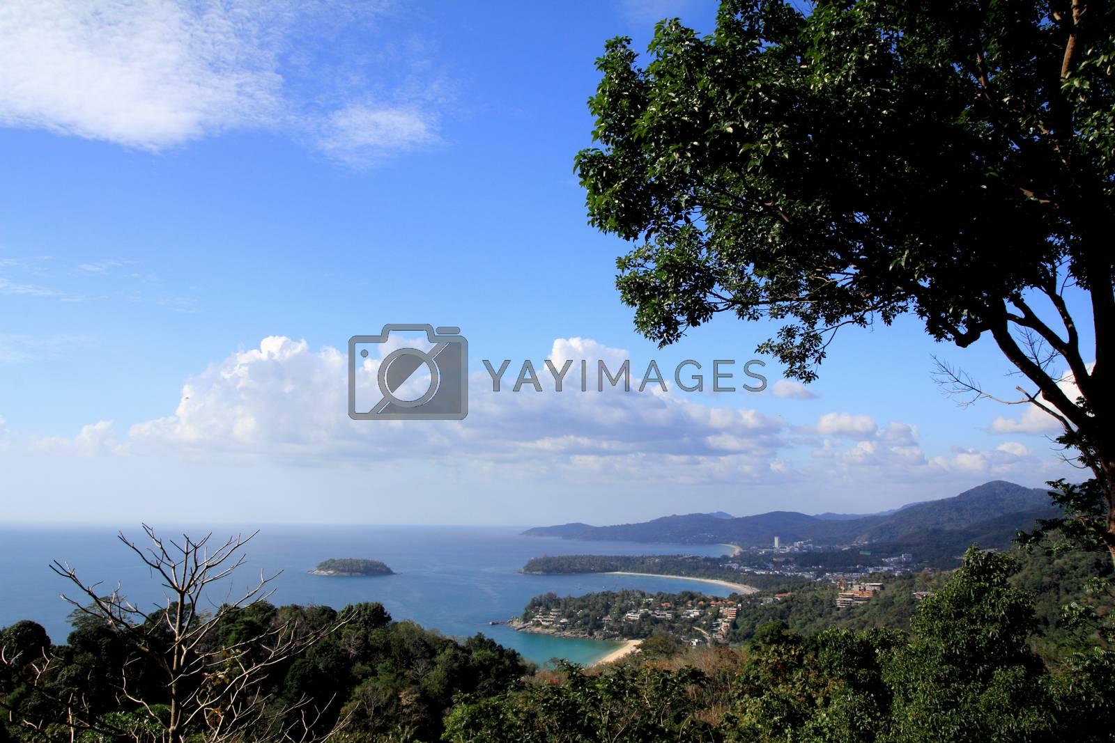 Royalty free image of Phuket view point by wyoosumran