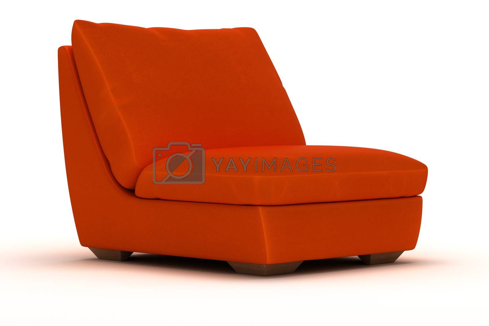 Royalty free image of Orange Leather Armchair by selensergen
