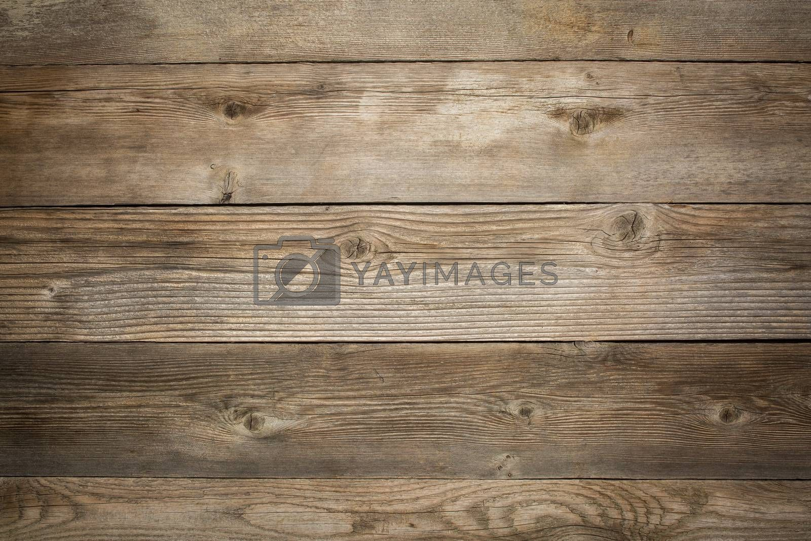 Royalty free image of rustic weathered wood background  by PixelsAway
