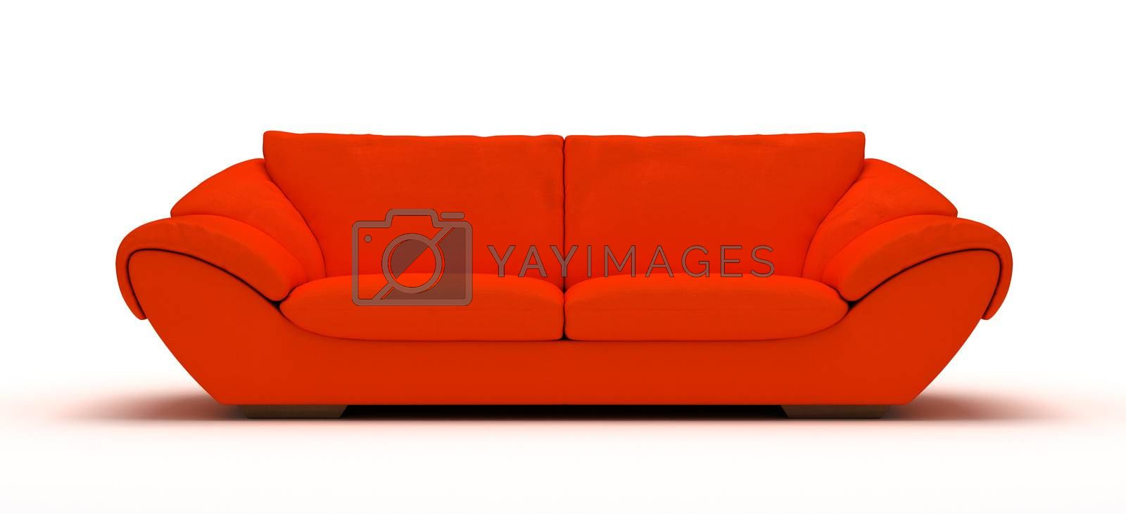 Royalty free image of Leather Sofa by selensergen