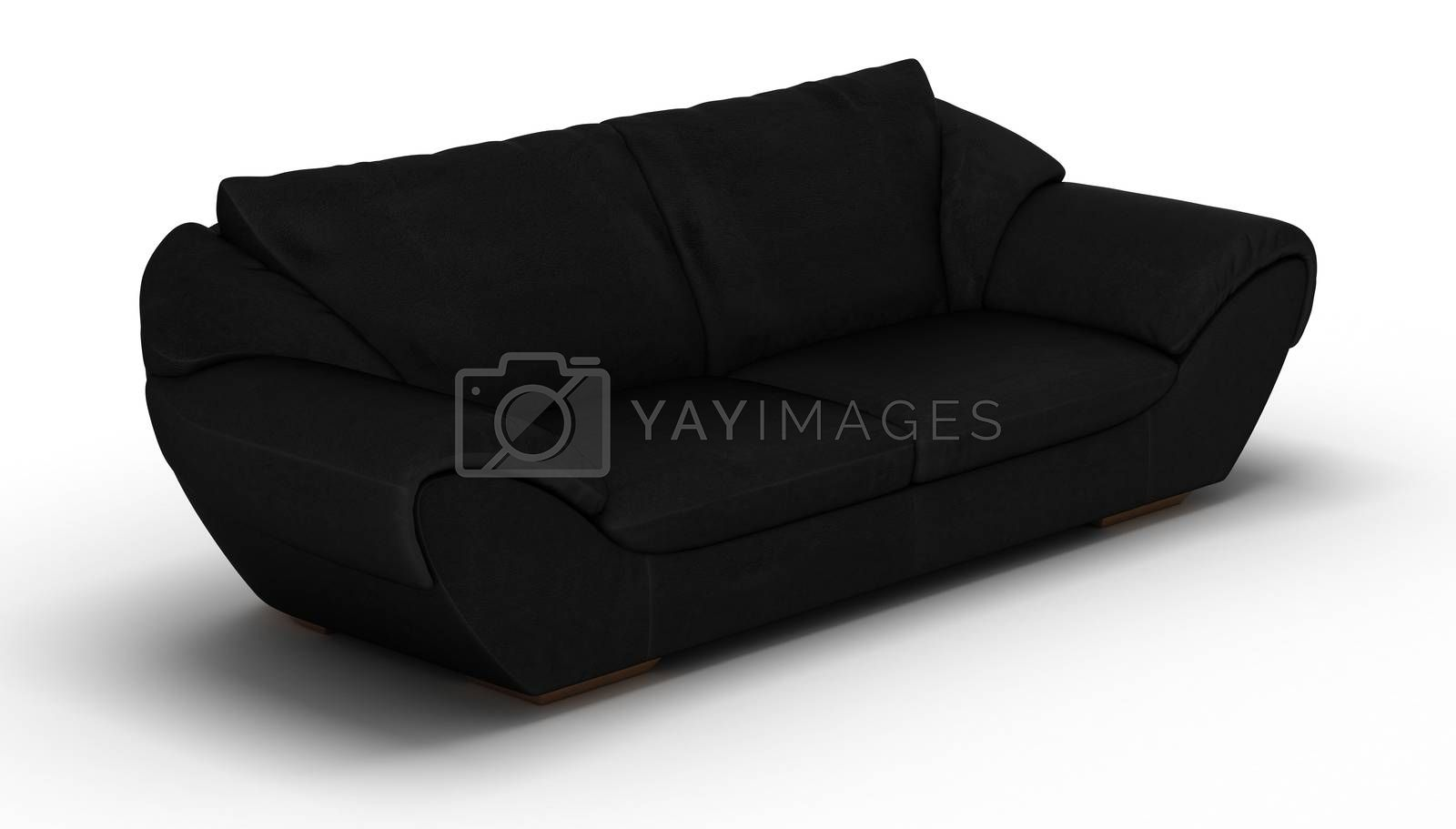 Royalty free image of Black Leather Sofa by selensergen