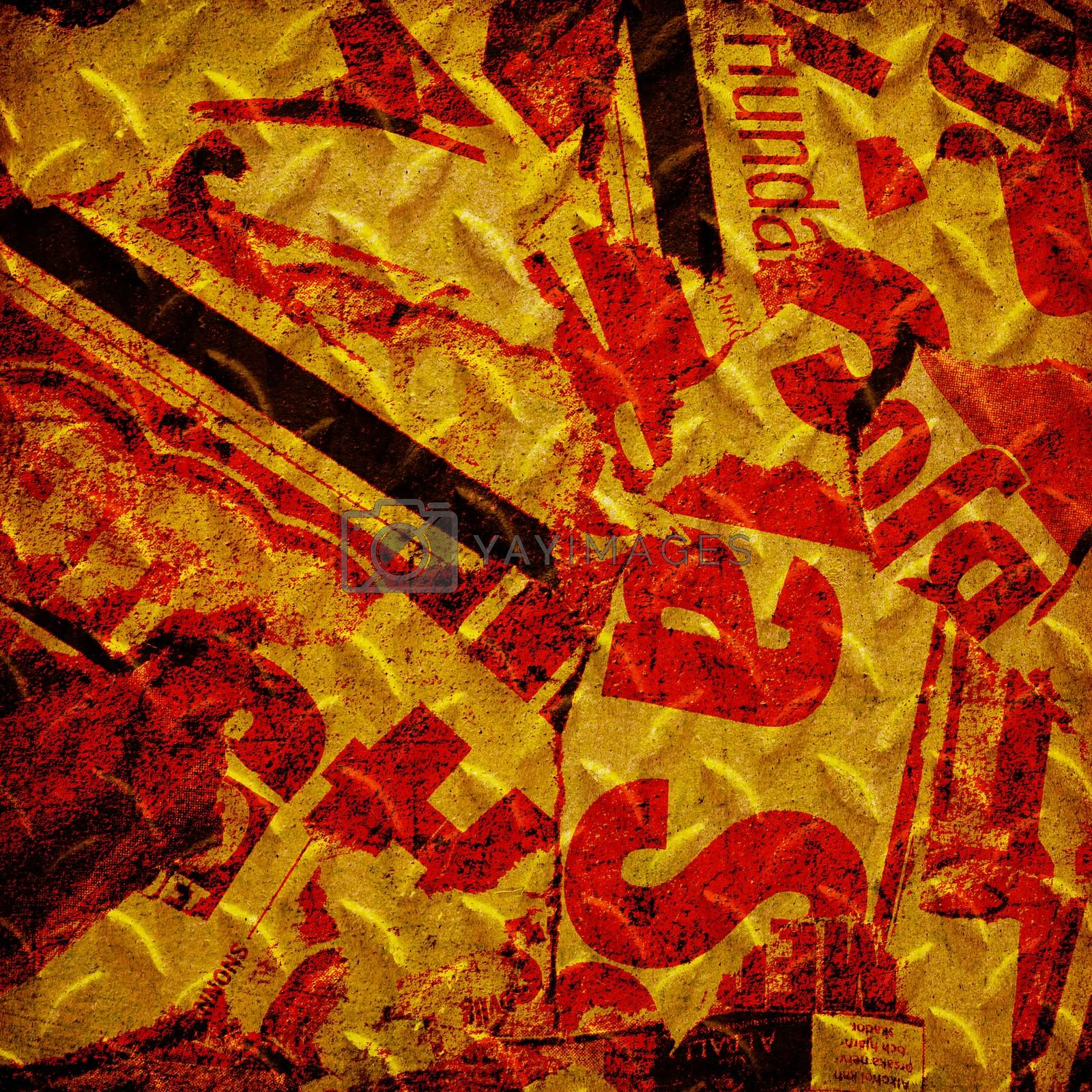 Royalty free image of Grunge red wall by wyoosumran