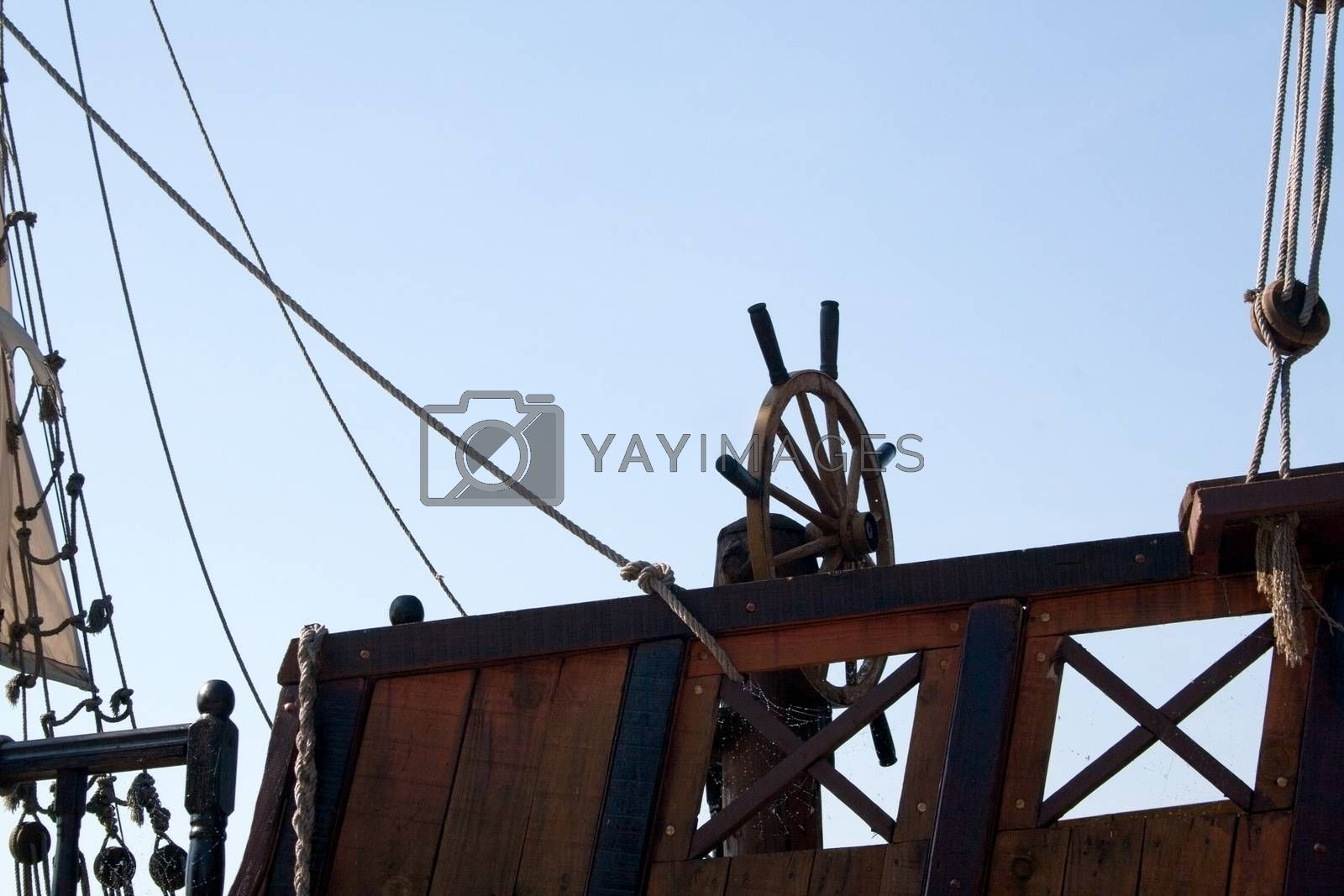 Royalty free image of Old rudder by elaplan