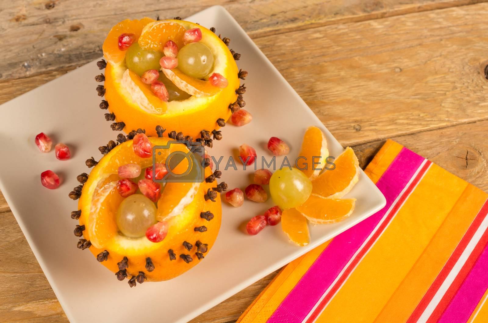 Royalty free image of Fresh fruit salad by hemeroskopion