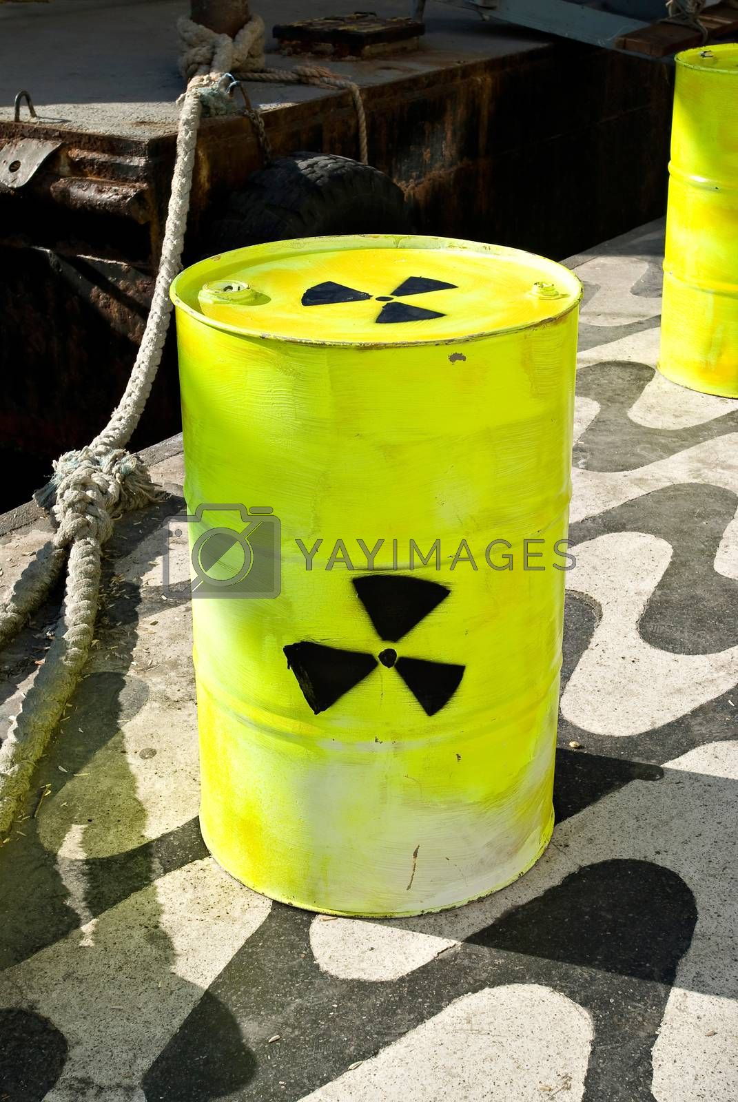 Royalty free image of Barrel with radioactive symbol by emirkoo