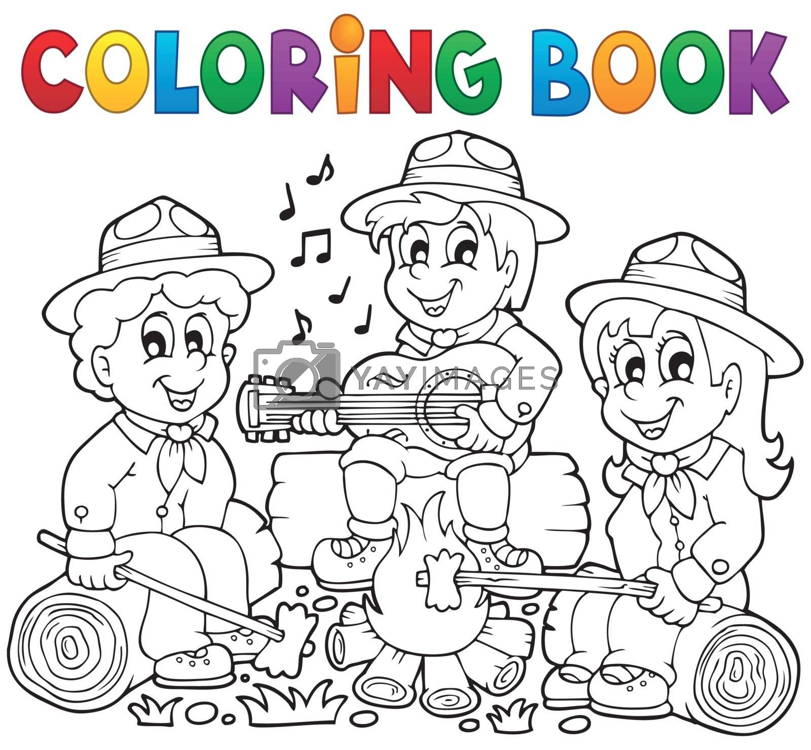 Royalty free image of Coloring book scouts theme 1 by clairev