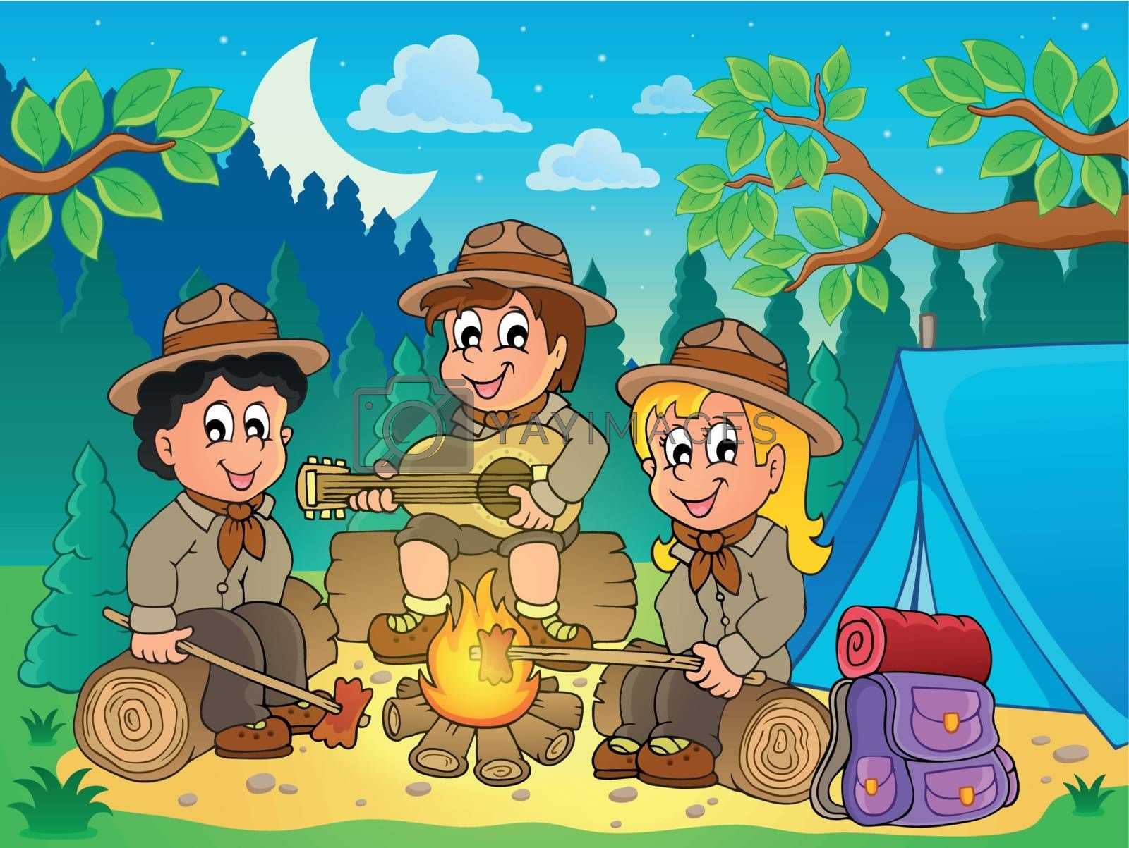 Royalty free image of Children scouts theme image 4 by clairev