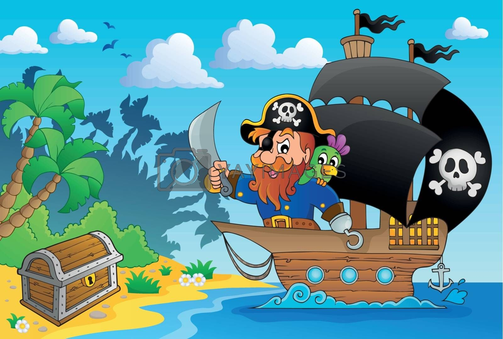 Royalty free image of Pirate ship theme image 1 by clairev