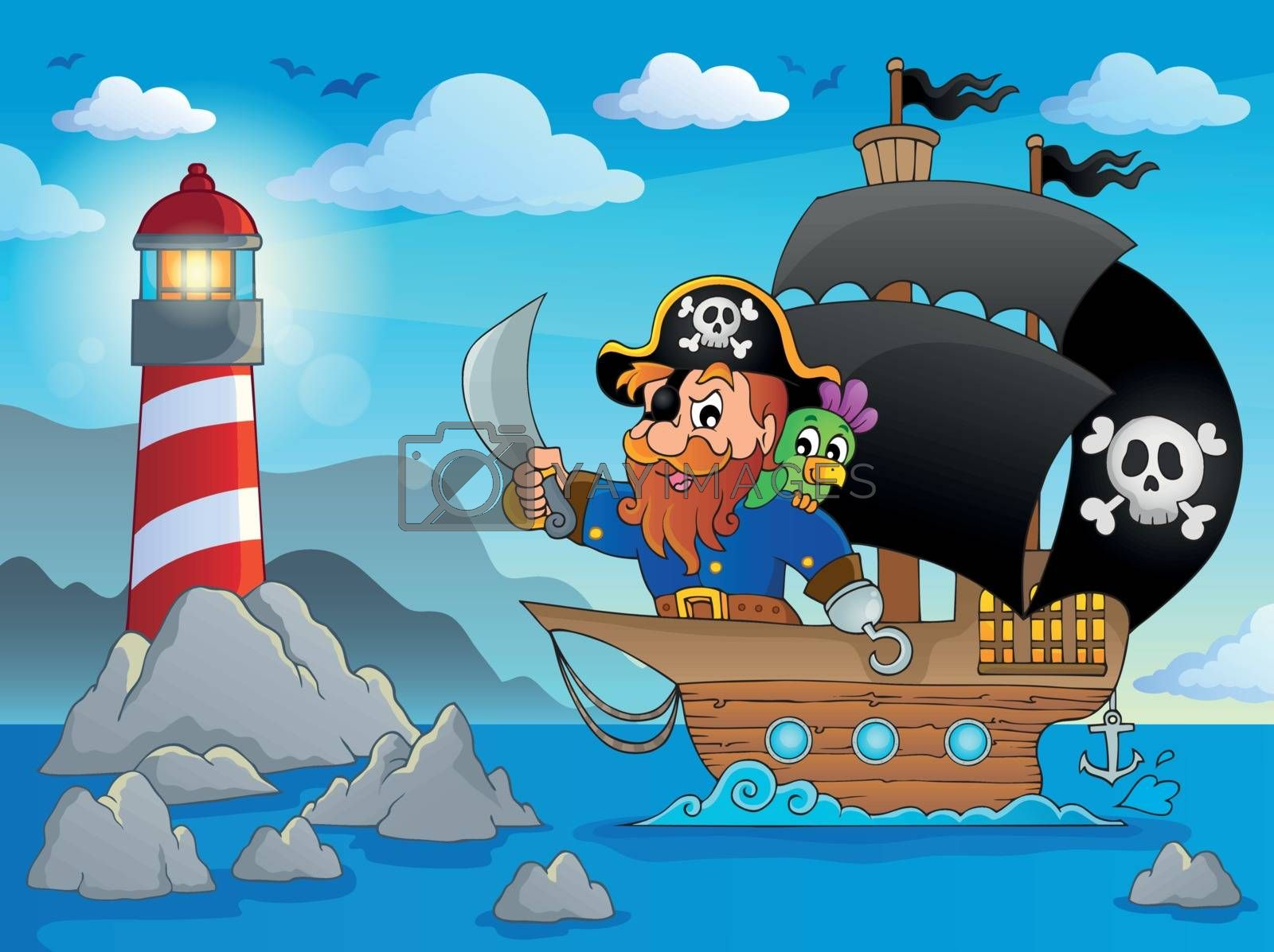 Royalty free image of Pirate ship theme image 2 by clairev
