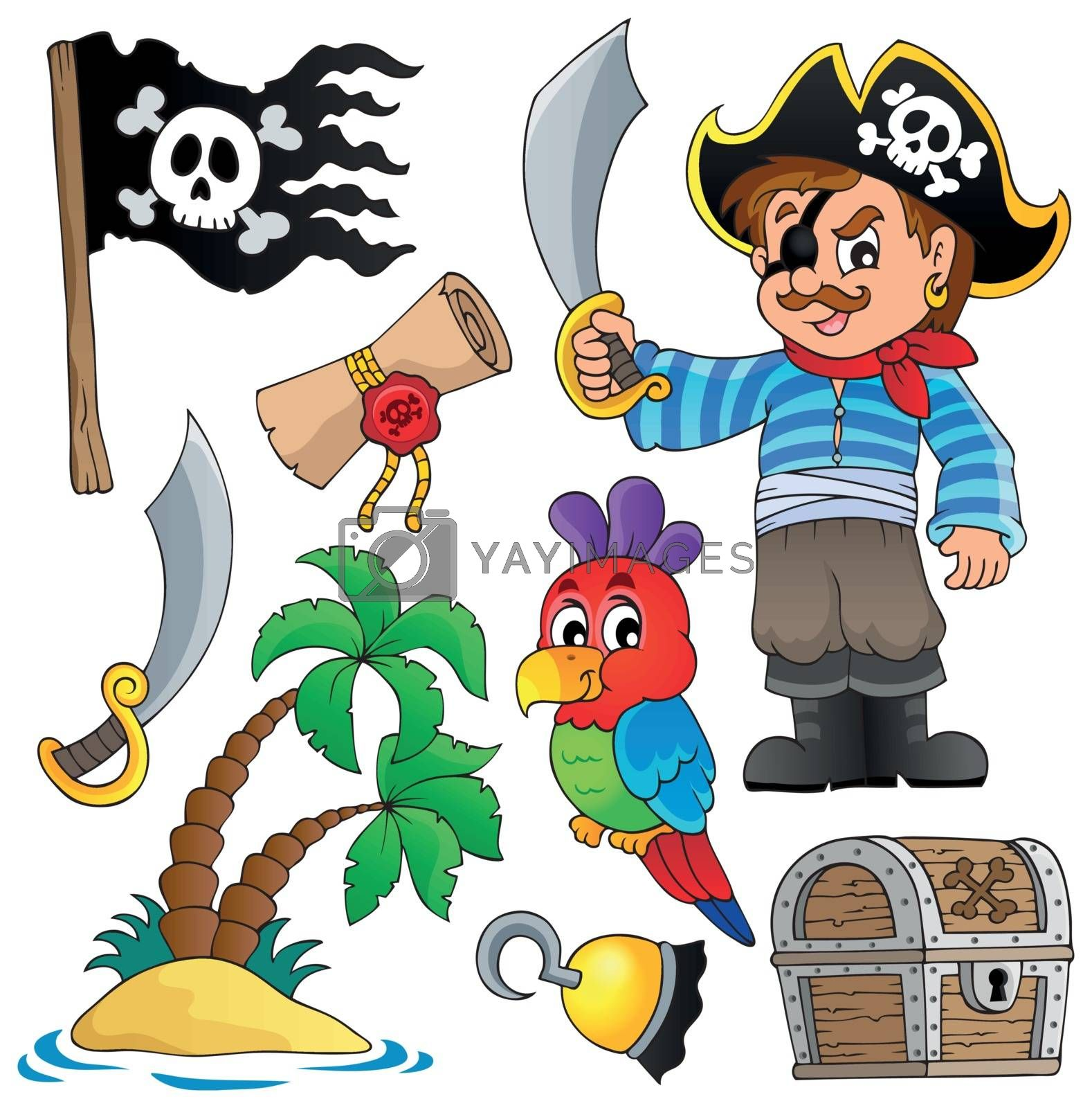 Royalty free image of Pirate thematics collection 1 by clairev