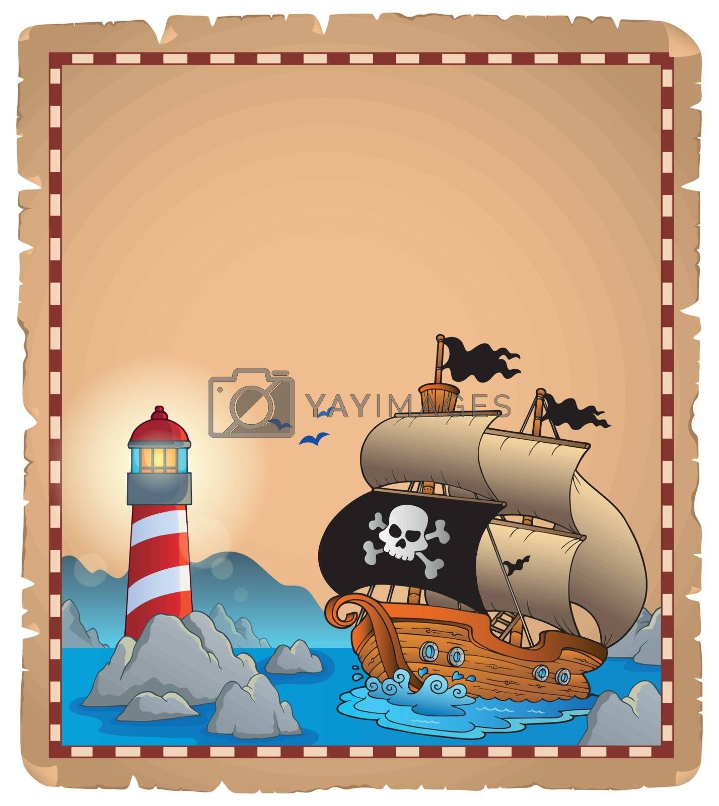Royalty free image of Pirate theme parchment 3 by clairev