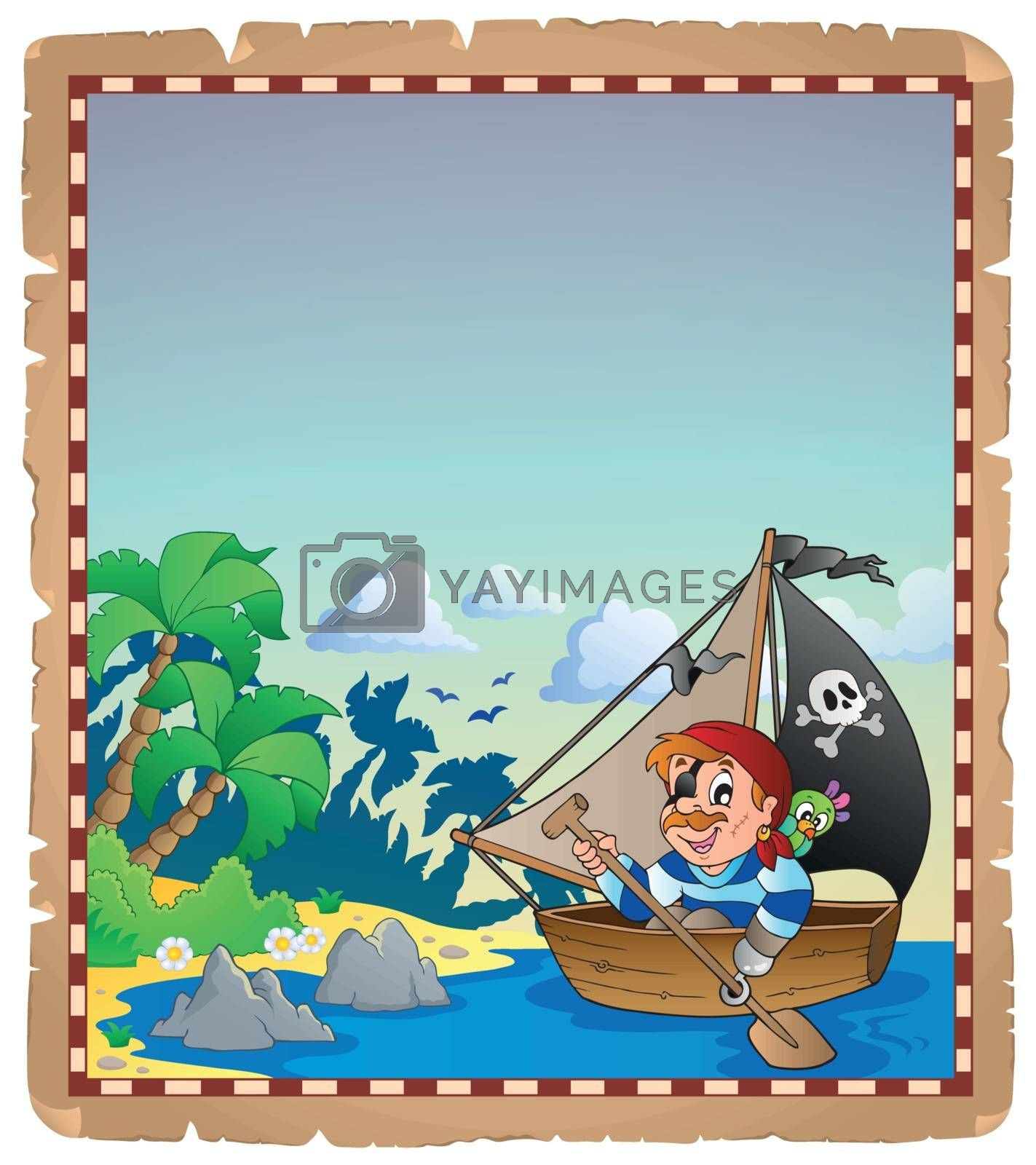 Royalty free image of Pirate theme parchment 6 by clairev